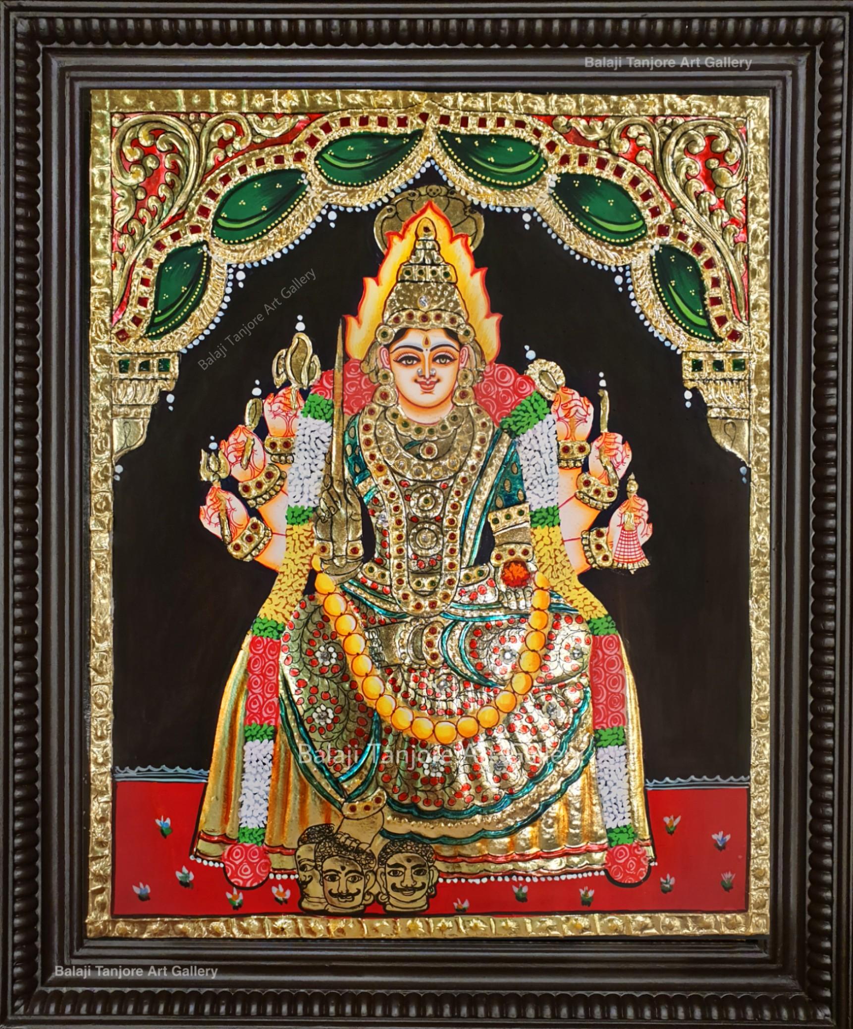 samayapuram mariamman tanjore painting