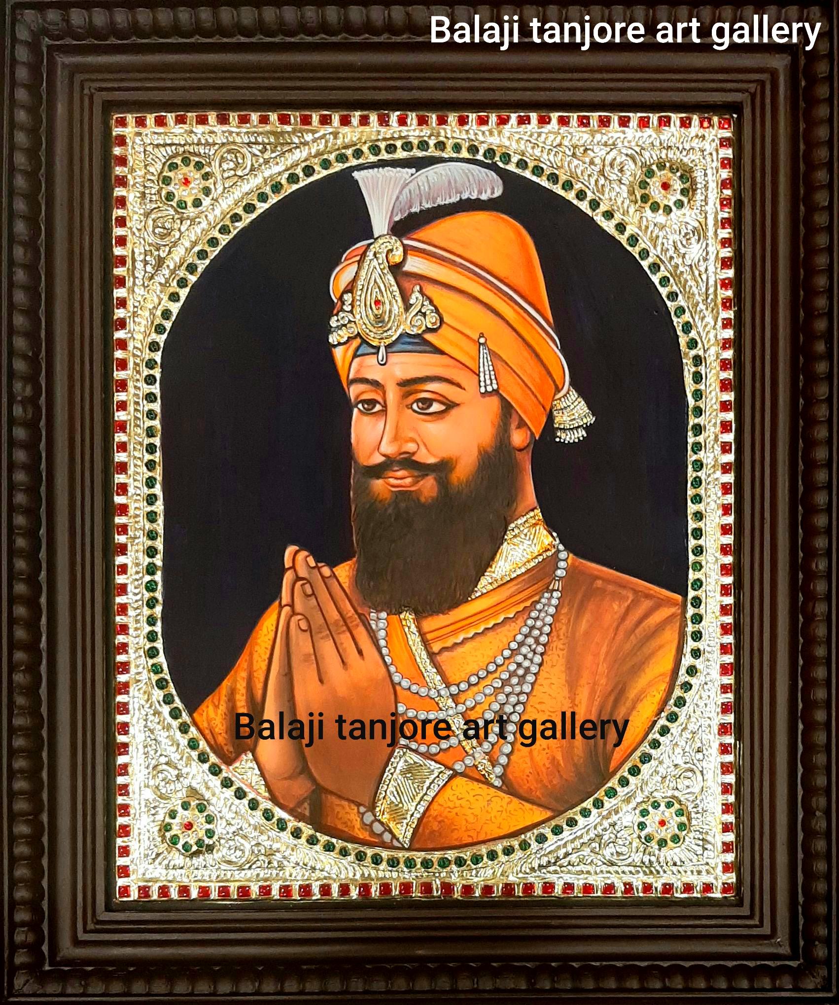 guru gobind singh tanjore painting