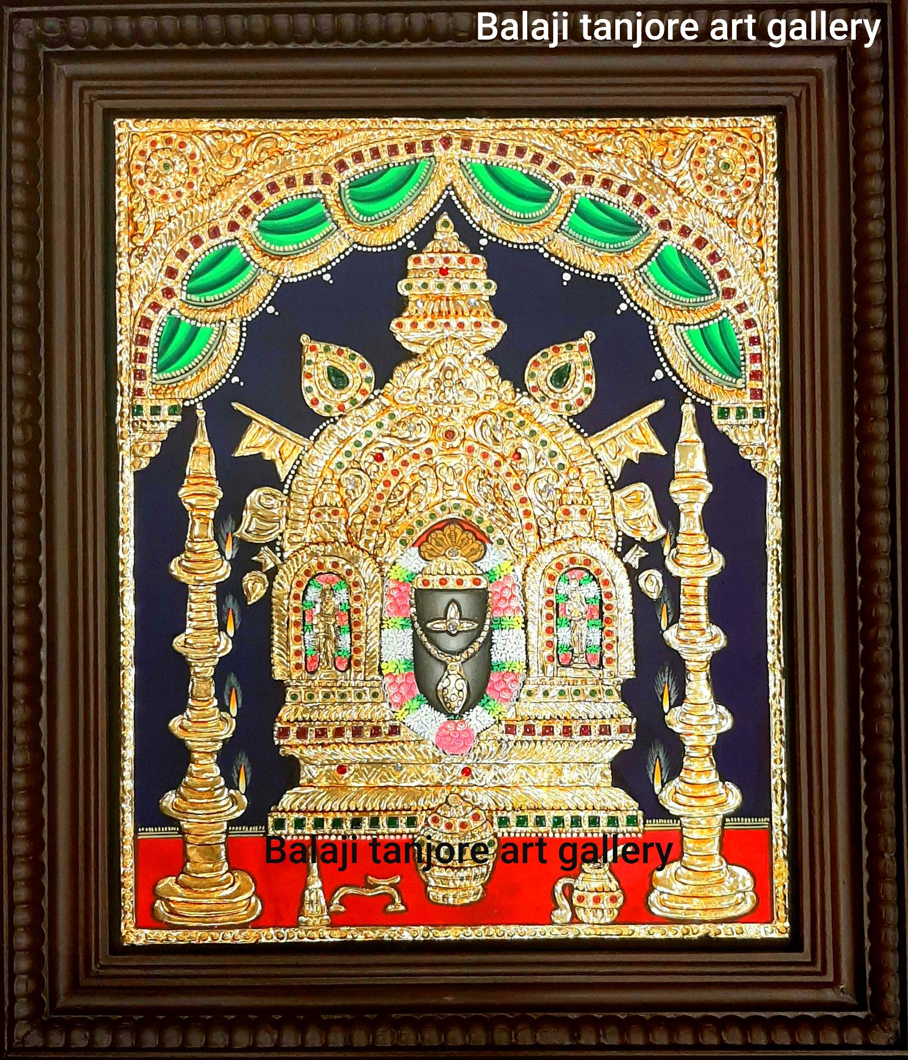 Manjunatha Swamy tanjore painting