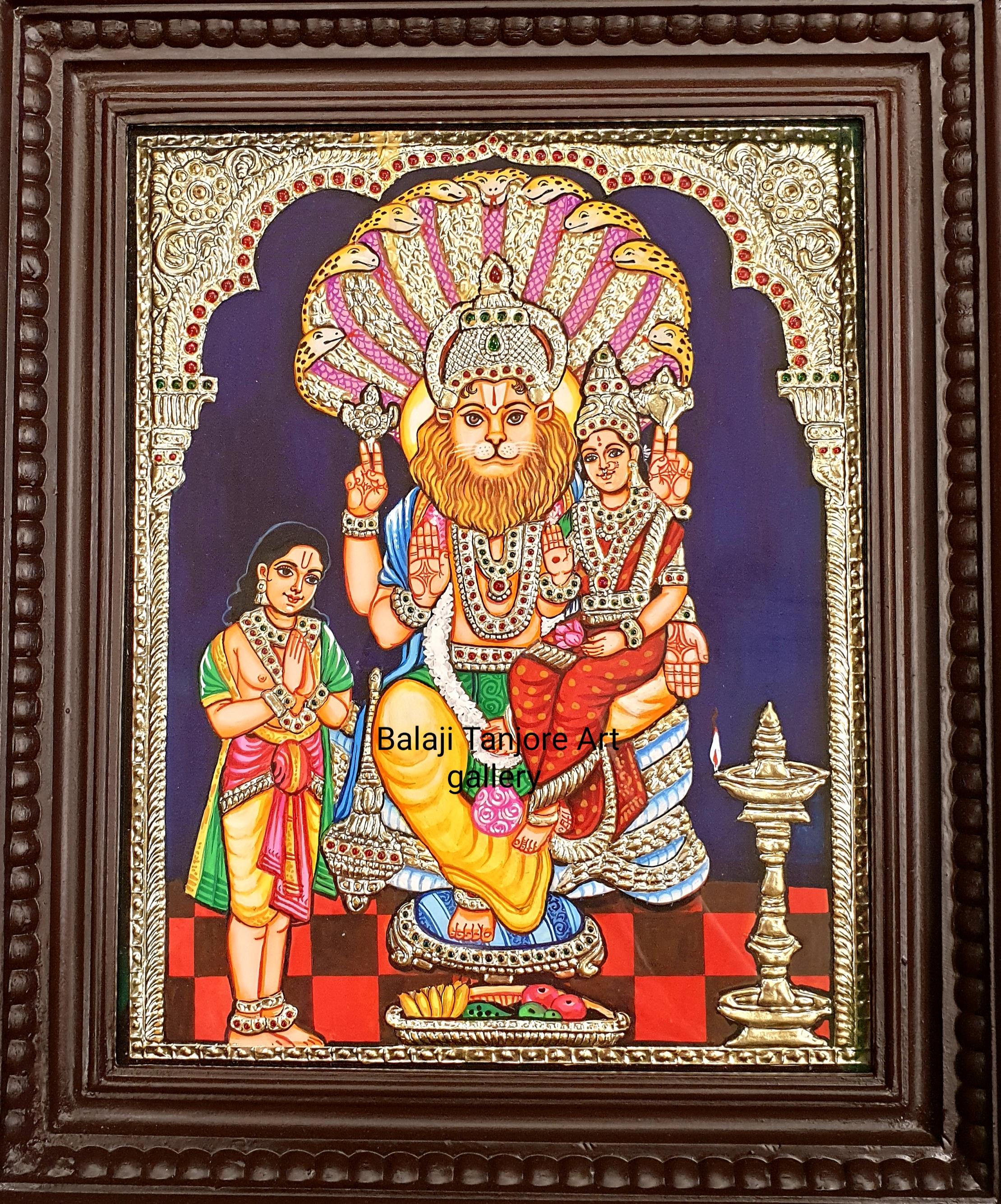ramar pattabishekam tanjore painting