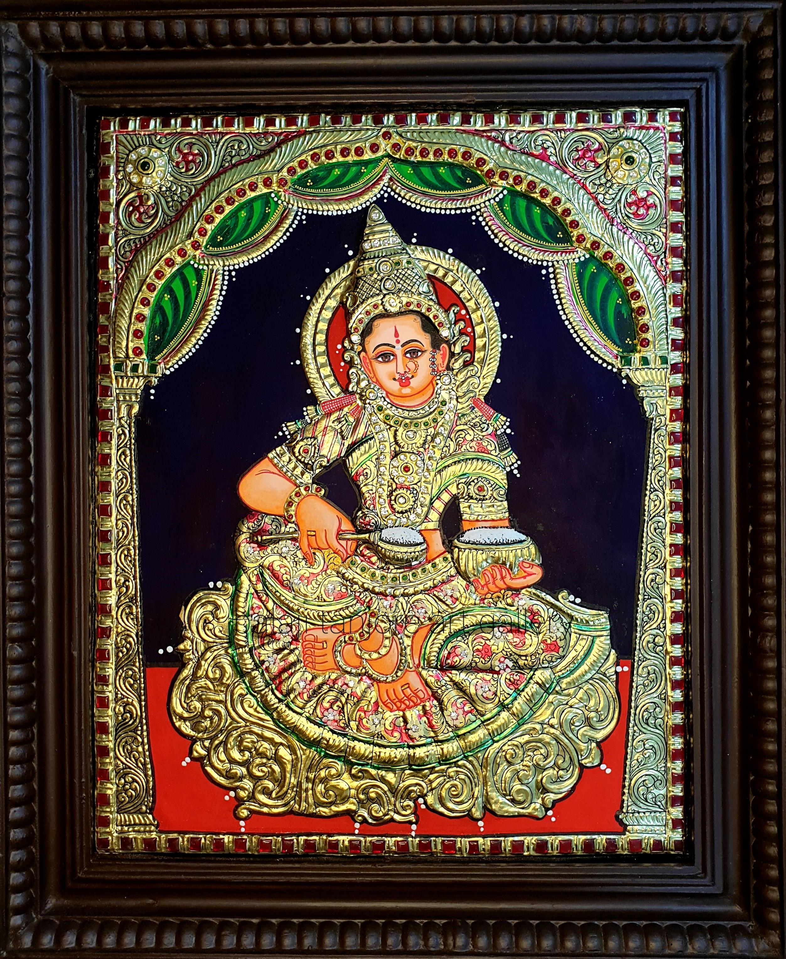 annaporani semi embossing tanjore painting