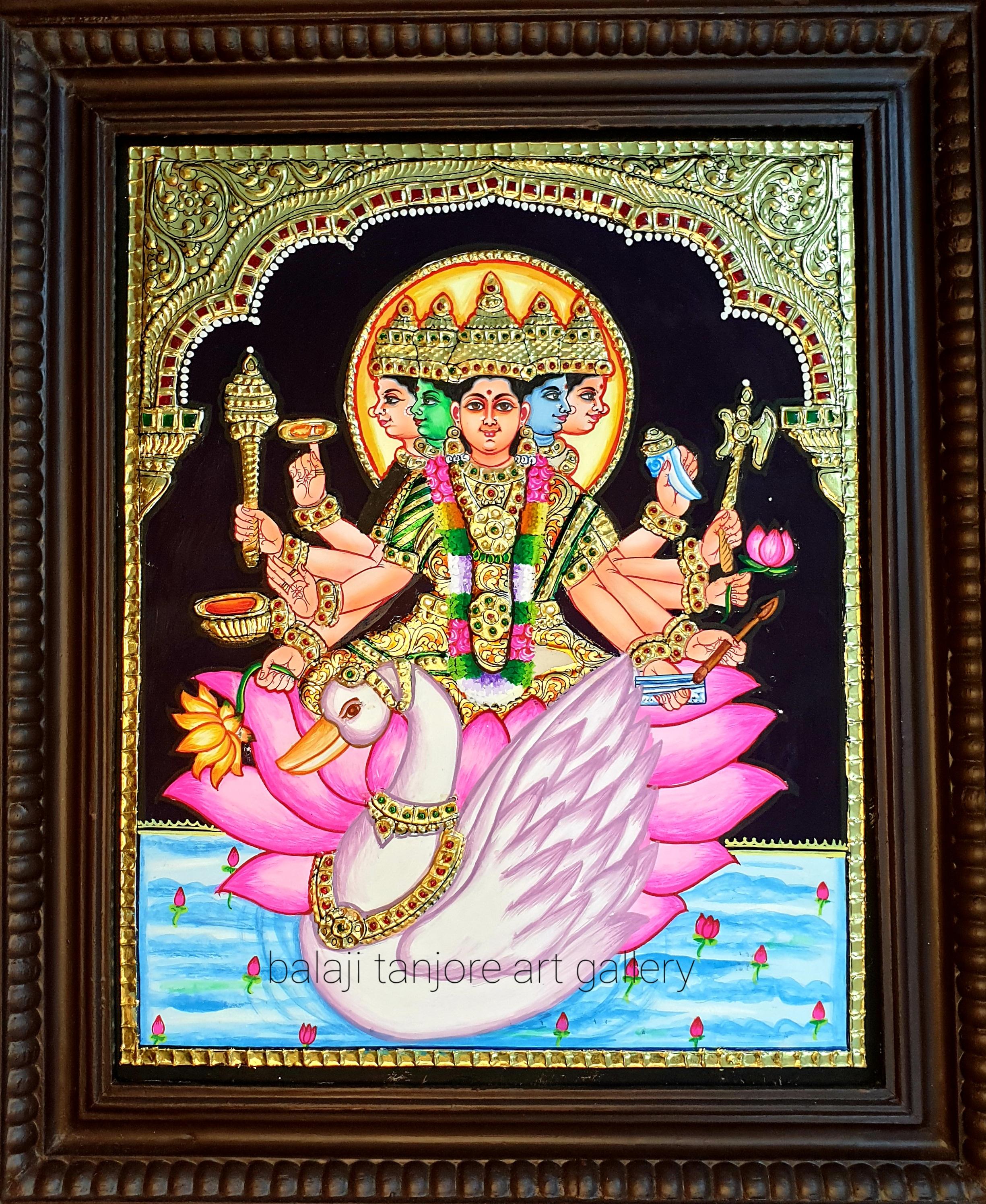 gayathri tanjore painting