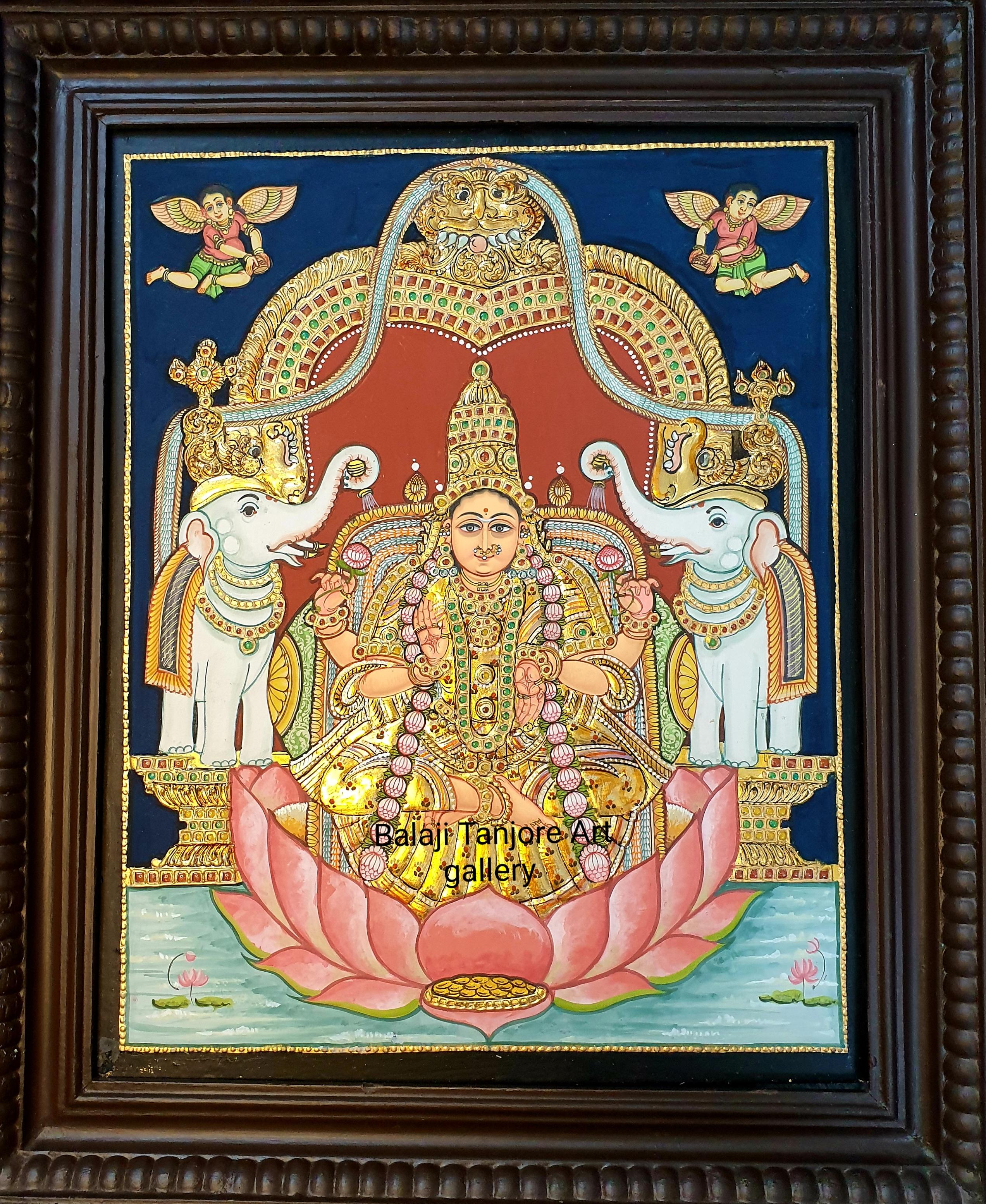 gaka lakshmi antique tanjore painting