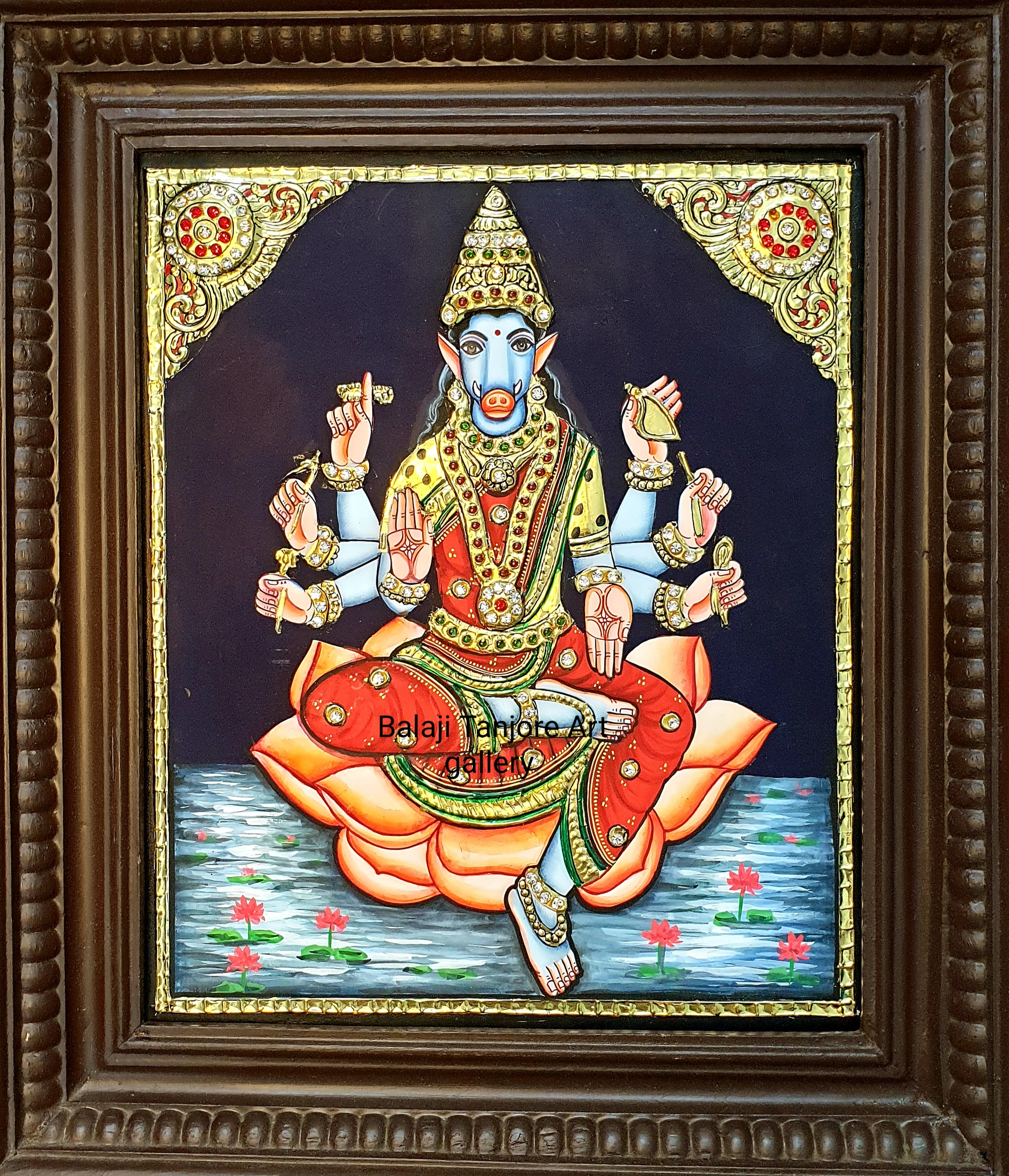 varahi amman tanjore painting