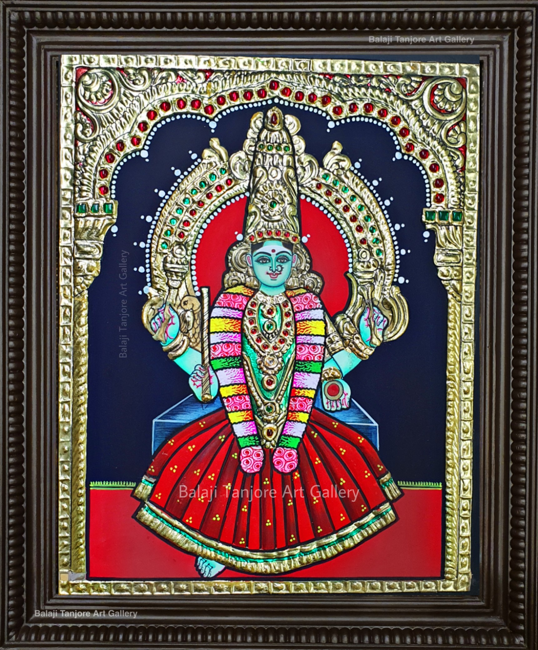 pachaiamman tanjore painting