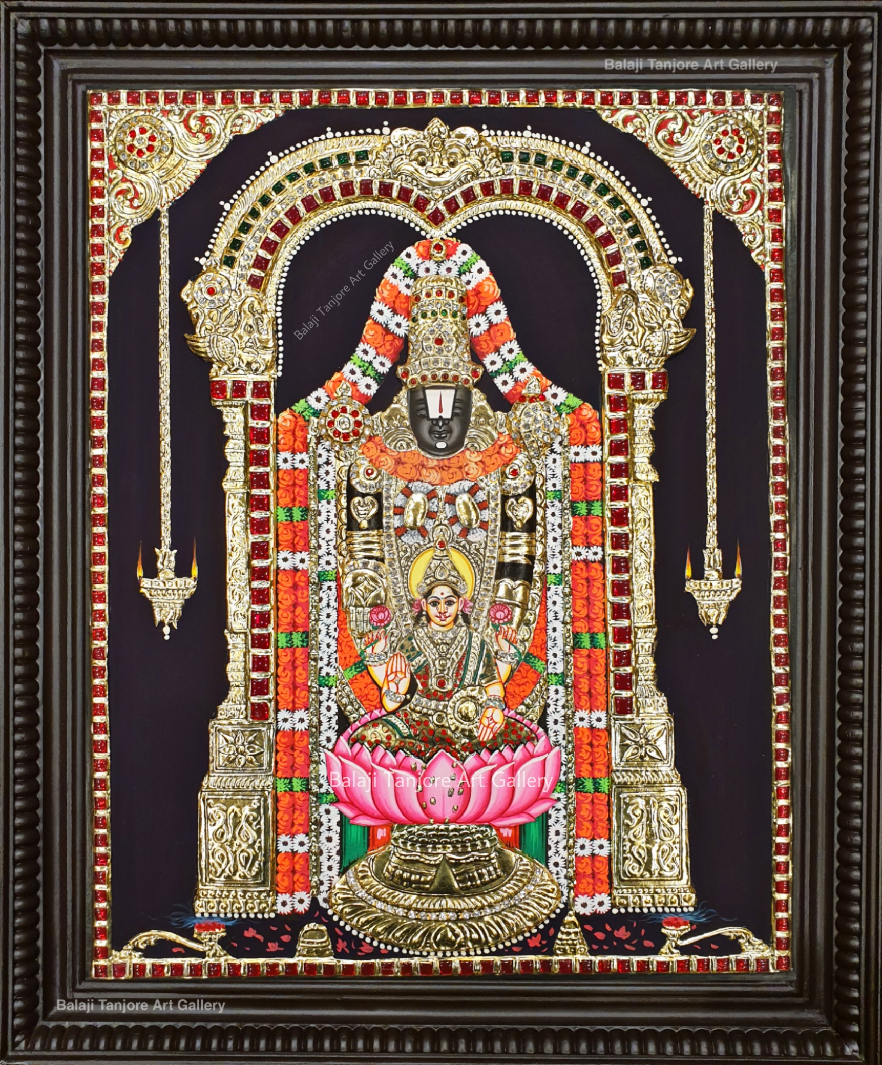 lakshmi balaji semi embossing tanjore painting