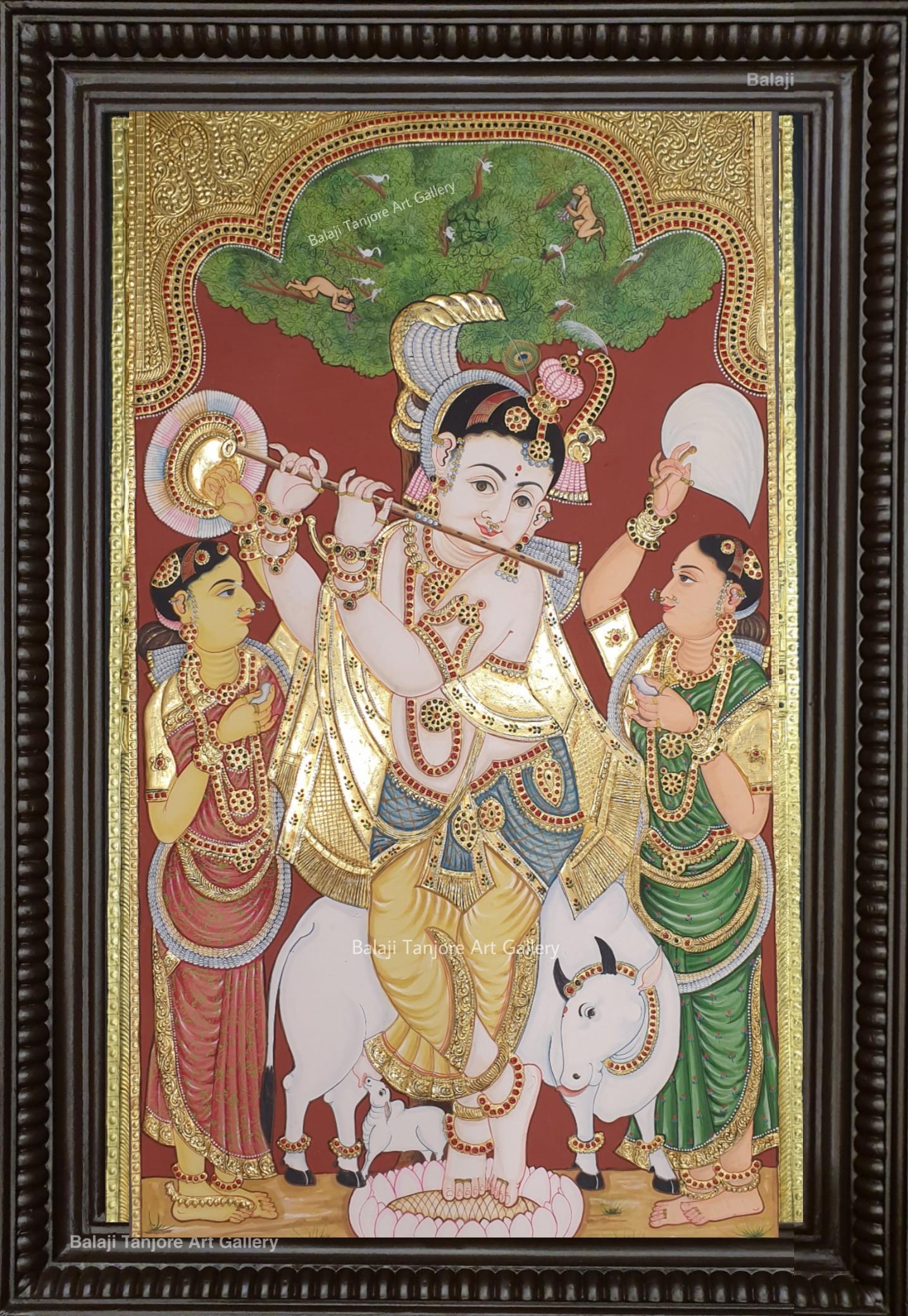 Oonjal RadhaKrishna Tanjore Paintings