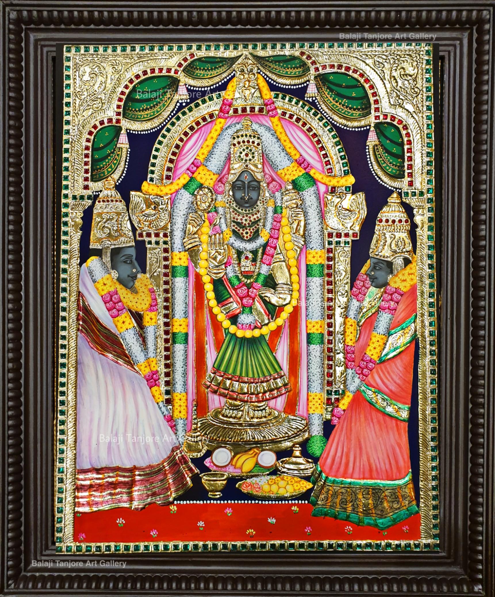 Tirunageshwaram Girigujambikai Devi tanjore painting