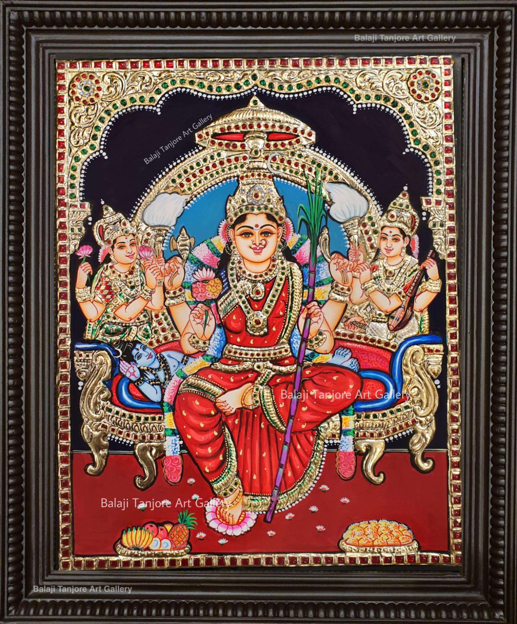 sri lalitha parameswari tanjore painting