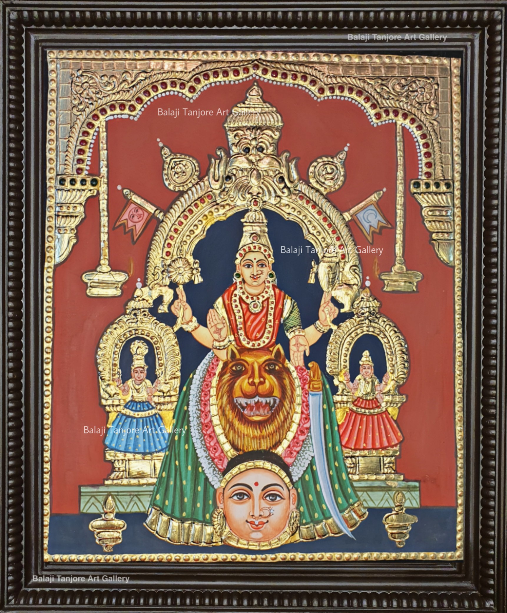 Moogambigai antique style tanjore painting