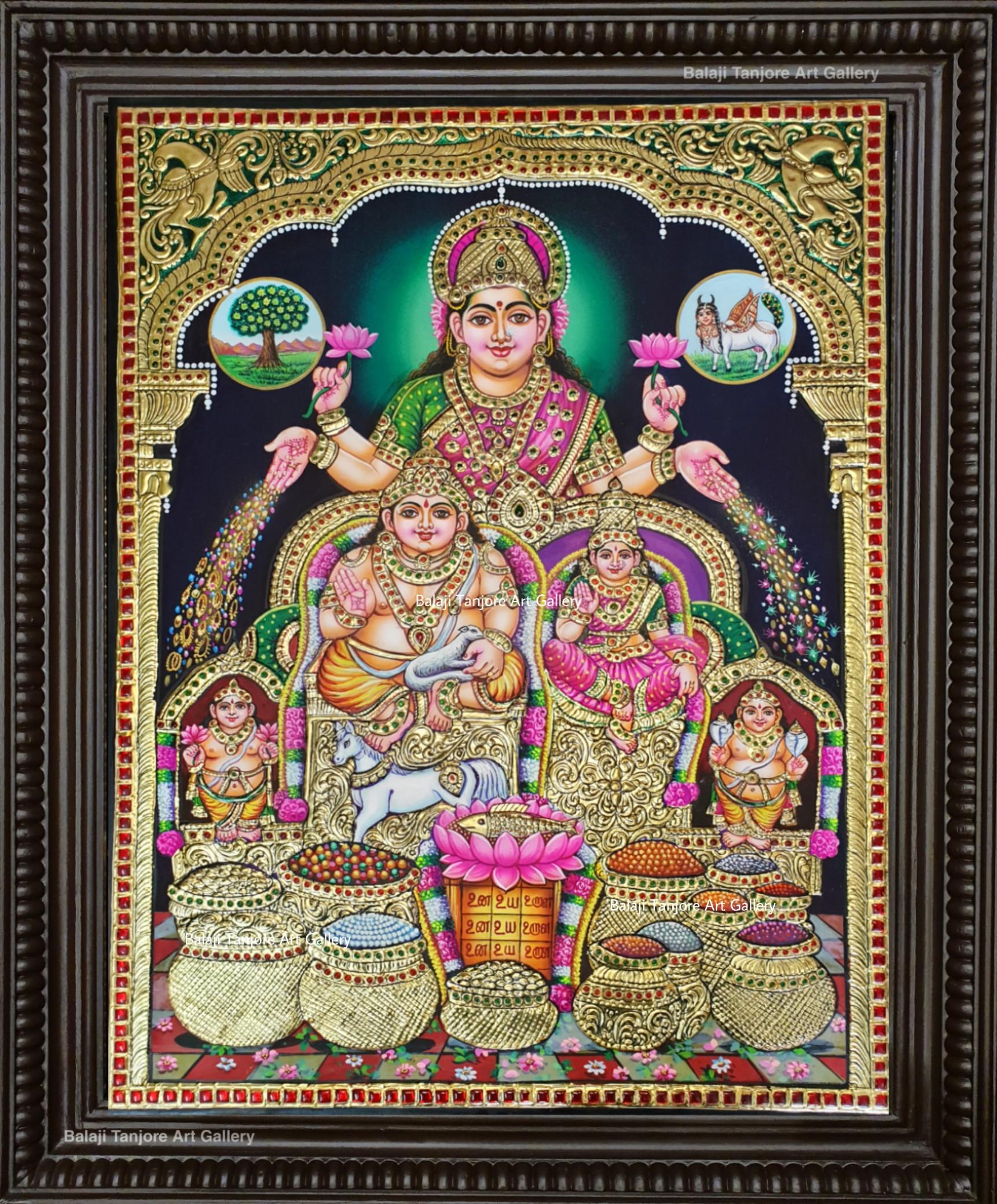 Gubera Lakshmi tanjore painting