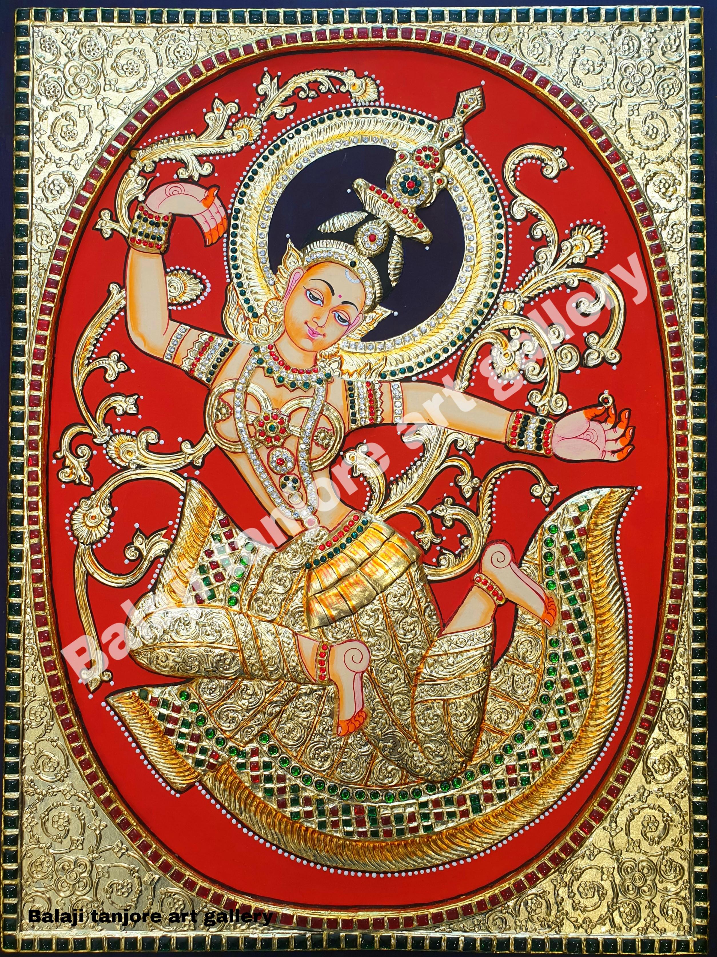 indonesian sita (rathi) semi embossing tanjore painting