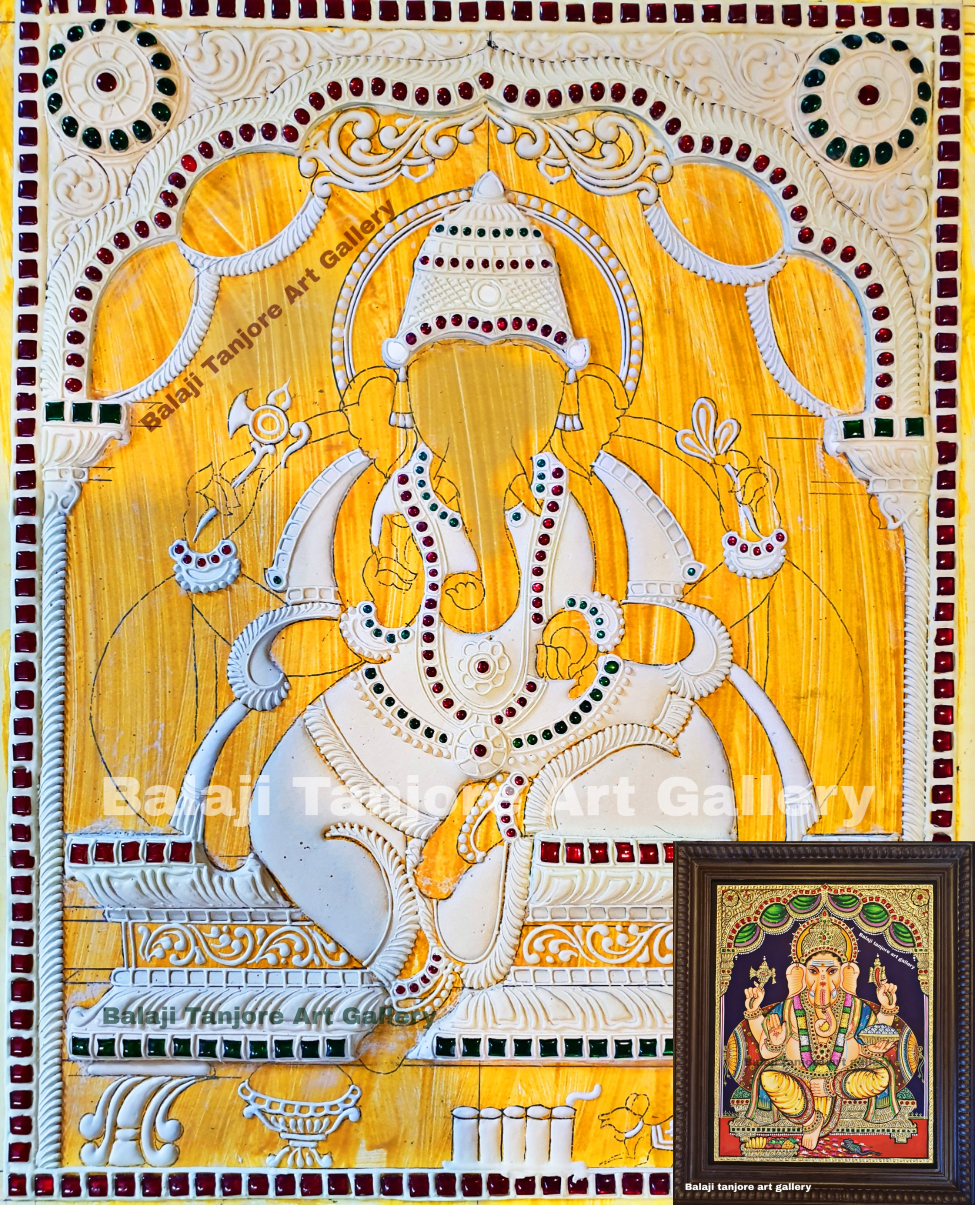 ganesha mukk board for tanjore painting