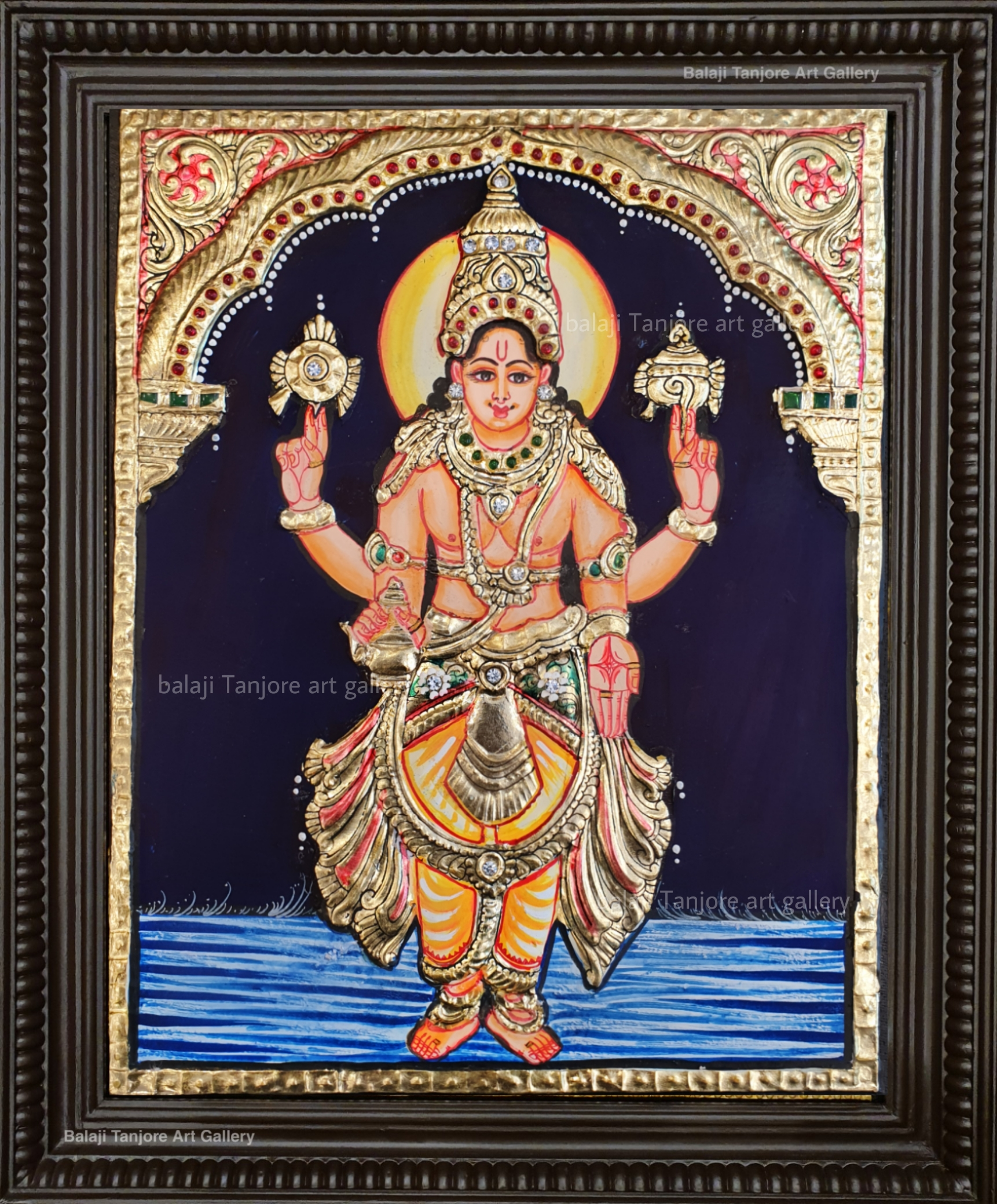 dhanvanthri tanjore painting