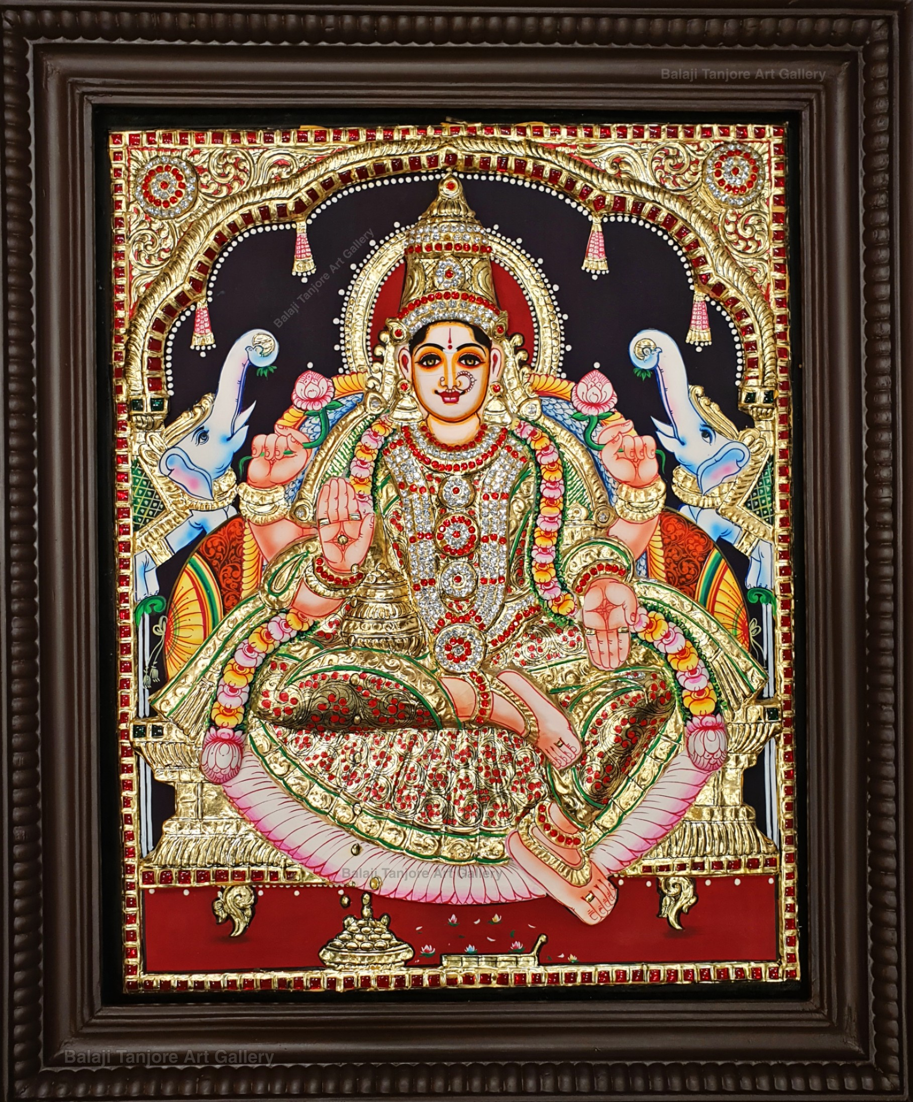 gaja lakshmi 3D tanjore painting