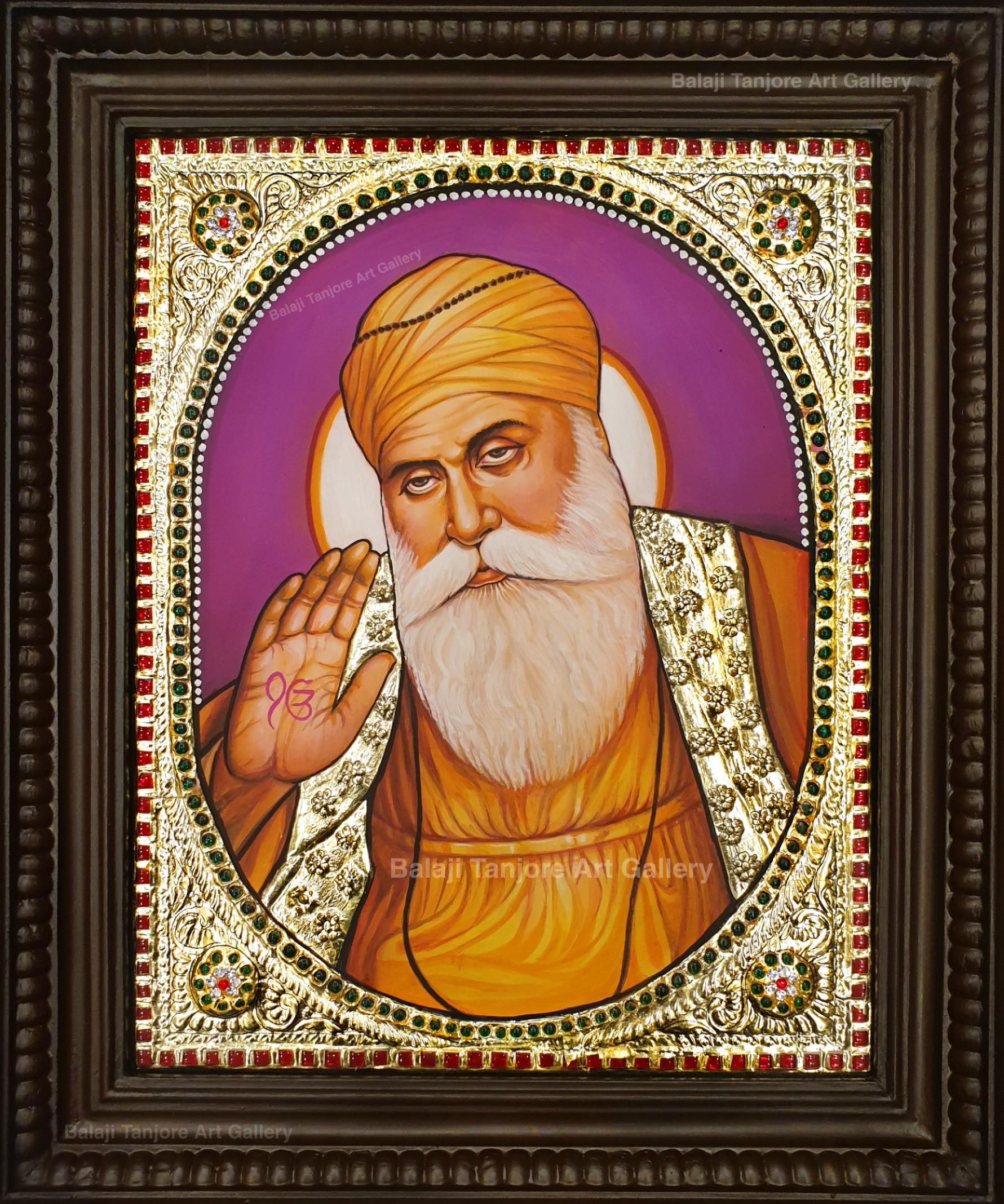 guru nanak tanjore painting