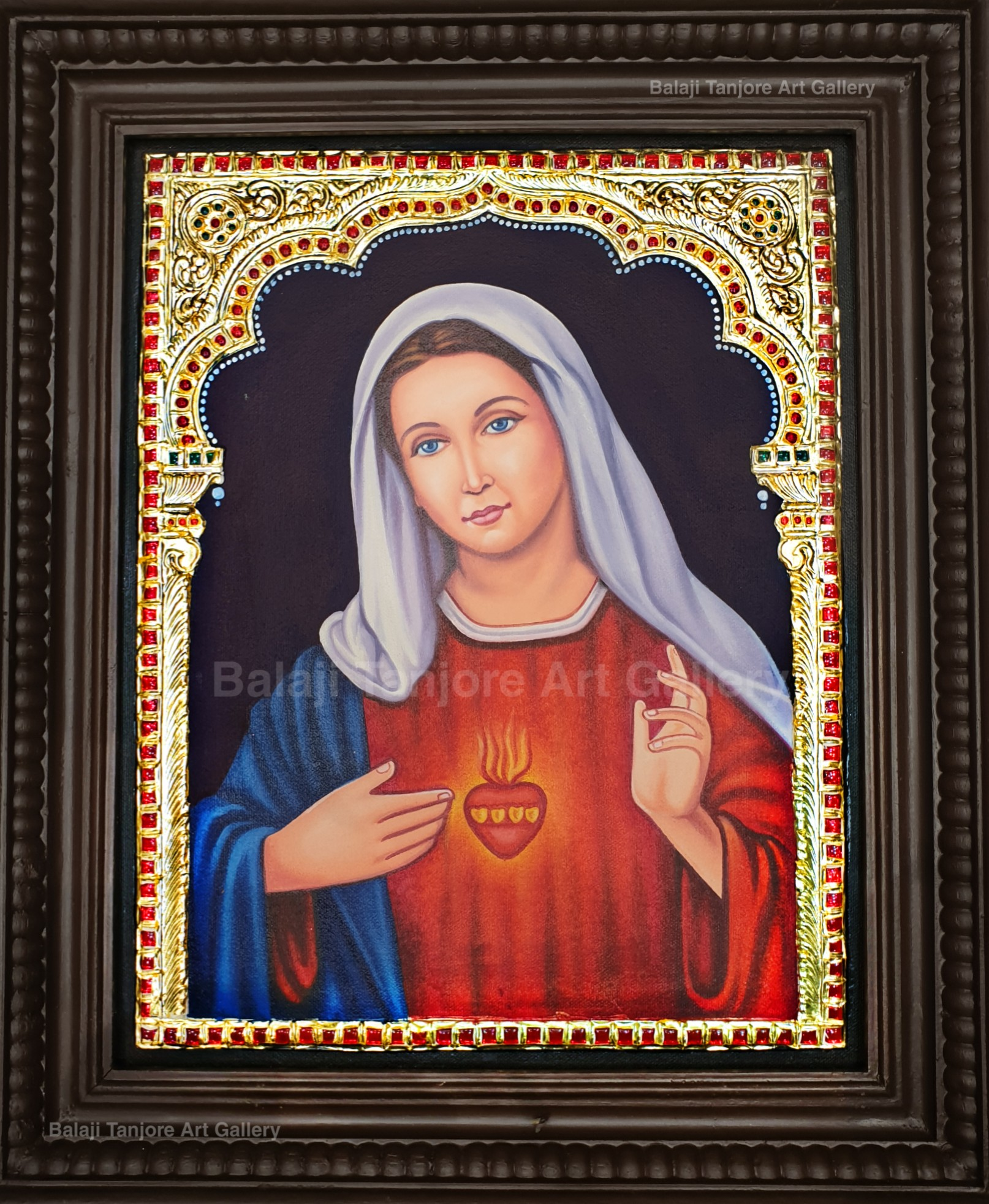 mary tanjore painting