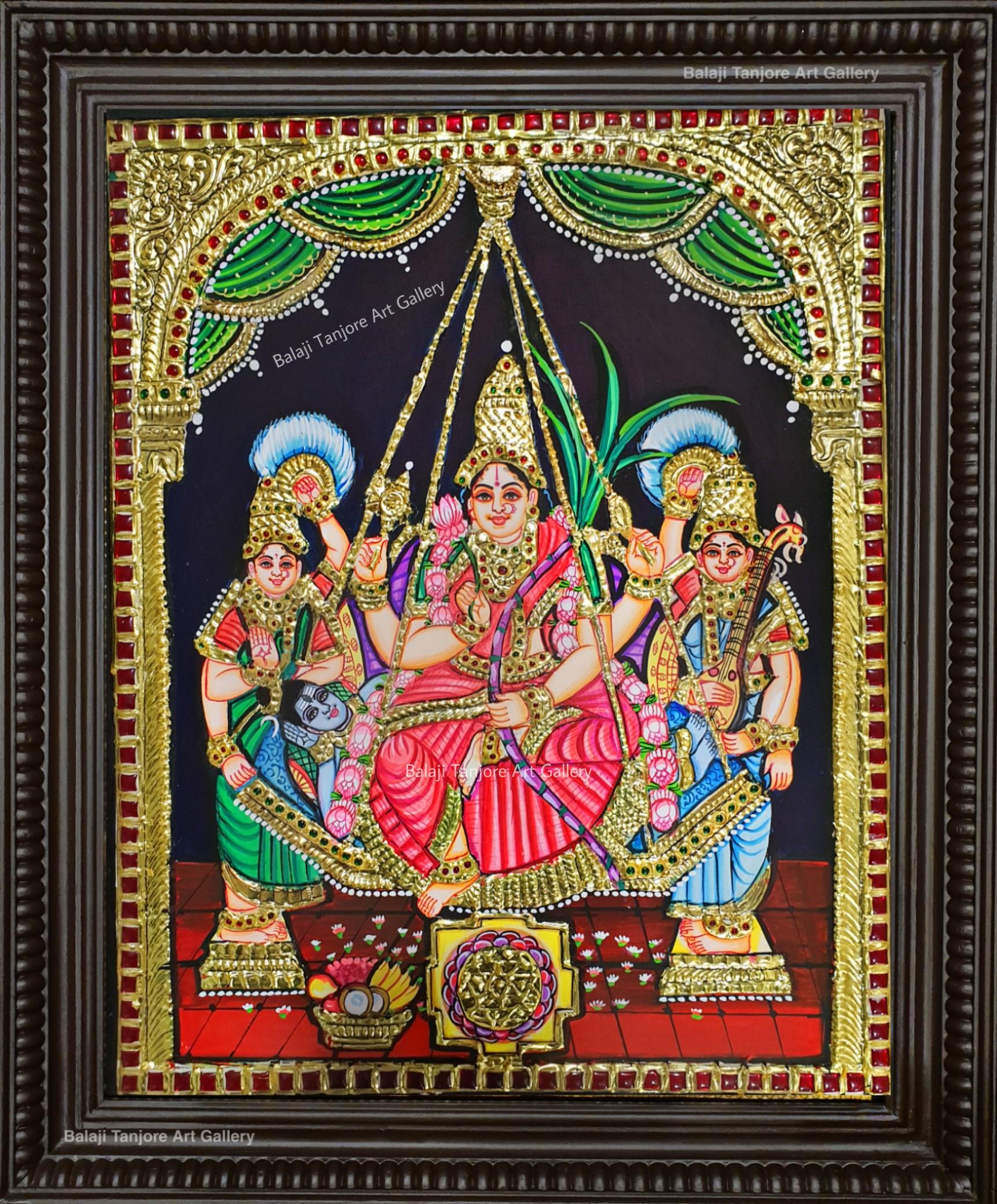 Lalitha Parameshwari Tanjore painting
