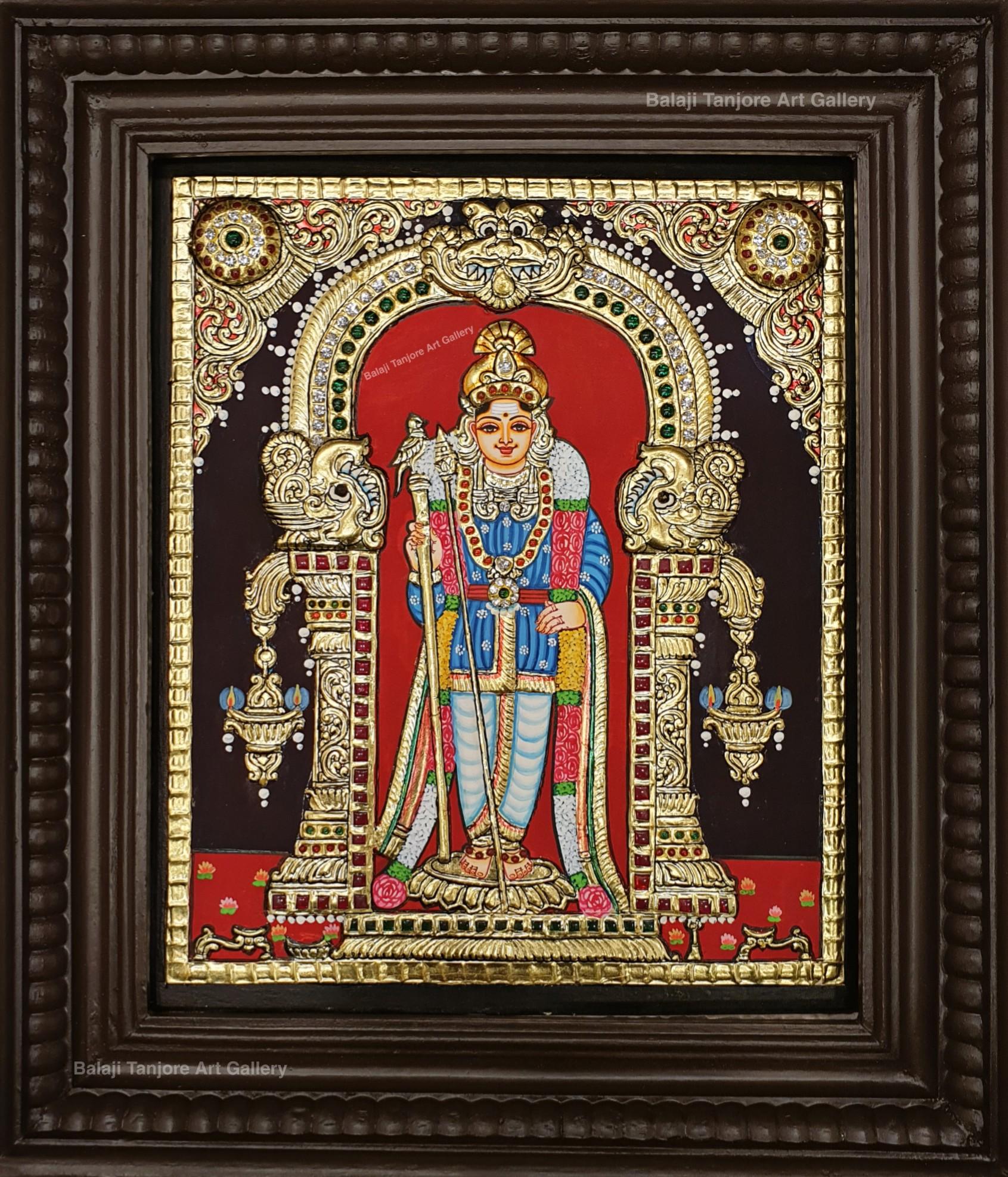raja alagara murugan tanjore painting
