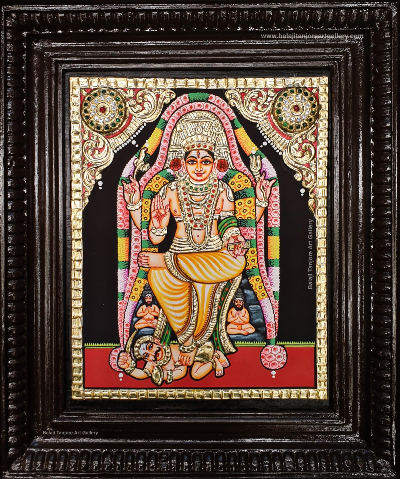 dhakshinamoorthy semi embossing tanjore painting
