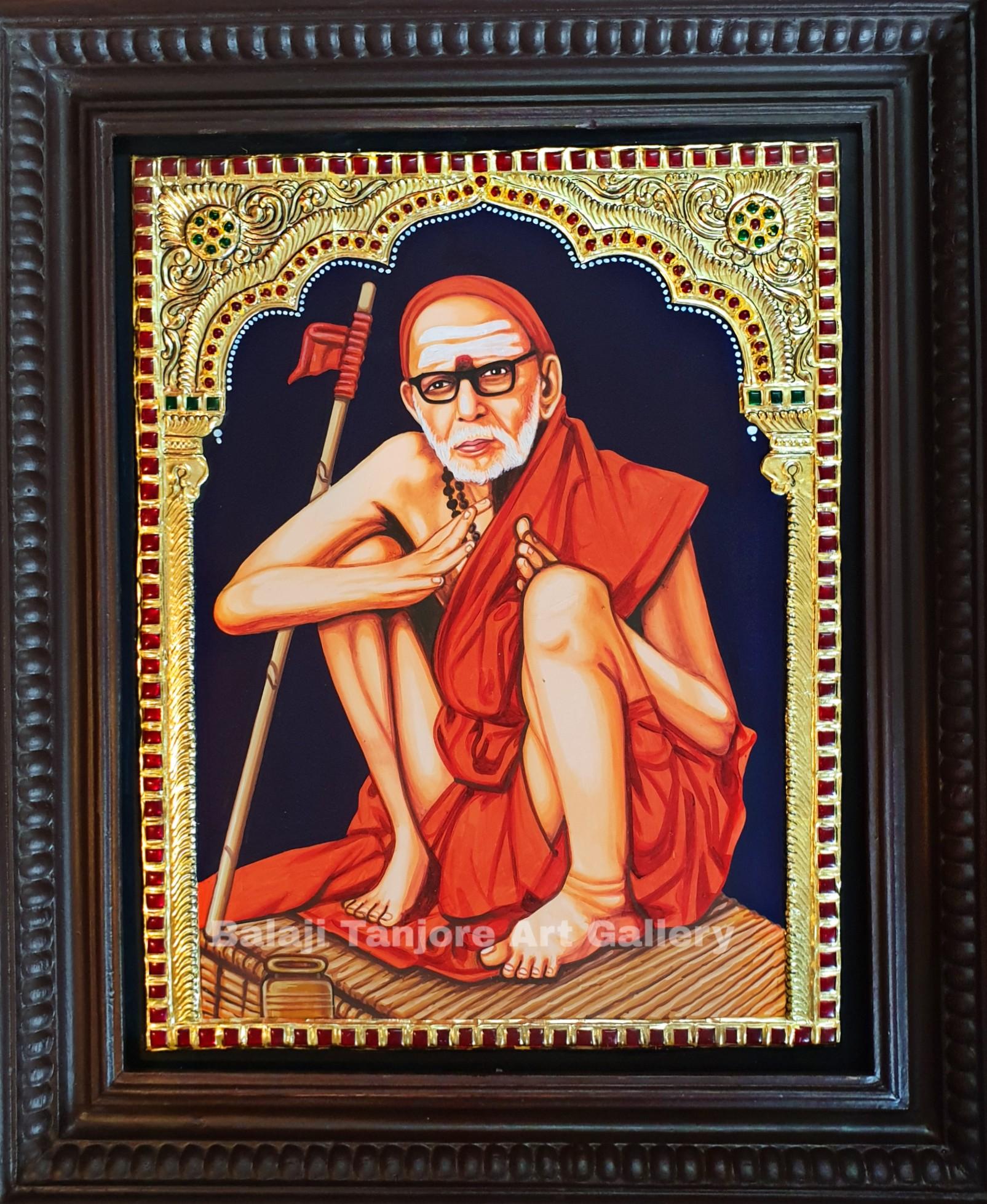 kanchi periyavar tanjore painting