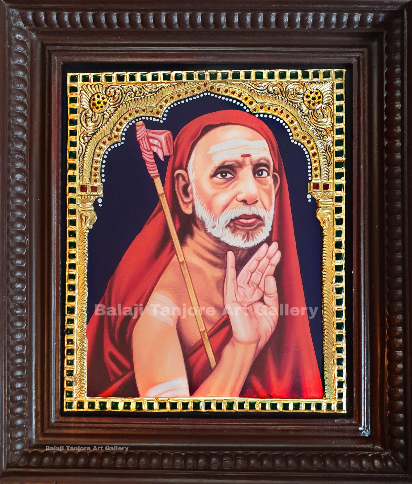 kaanchi periyavar tanjore painting