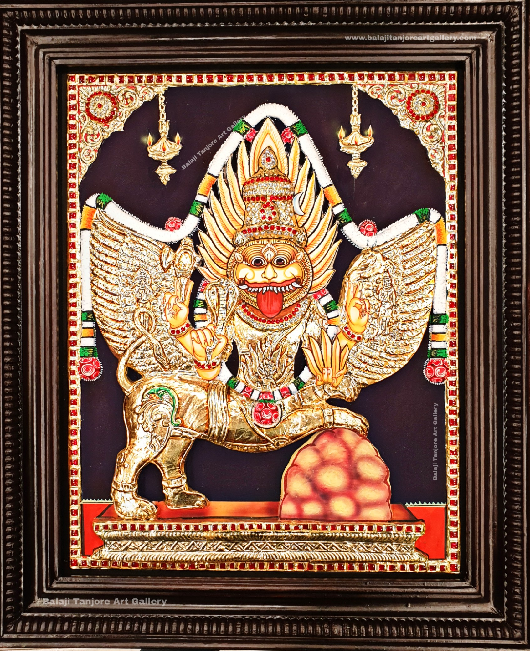 saraswathi 3D full embossing tanjore painting