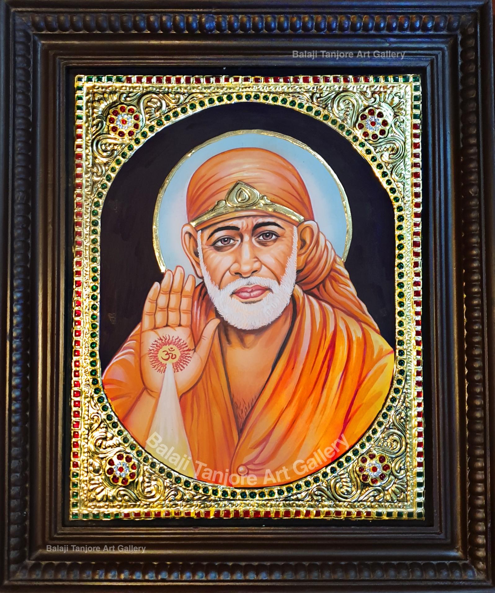 Sri Shirdi Saibaba Tanjore painting