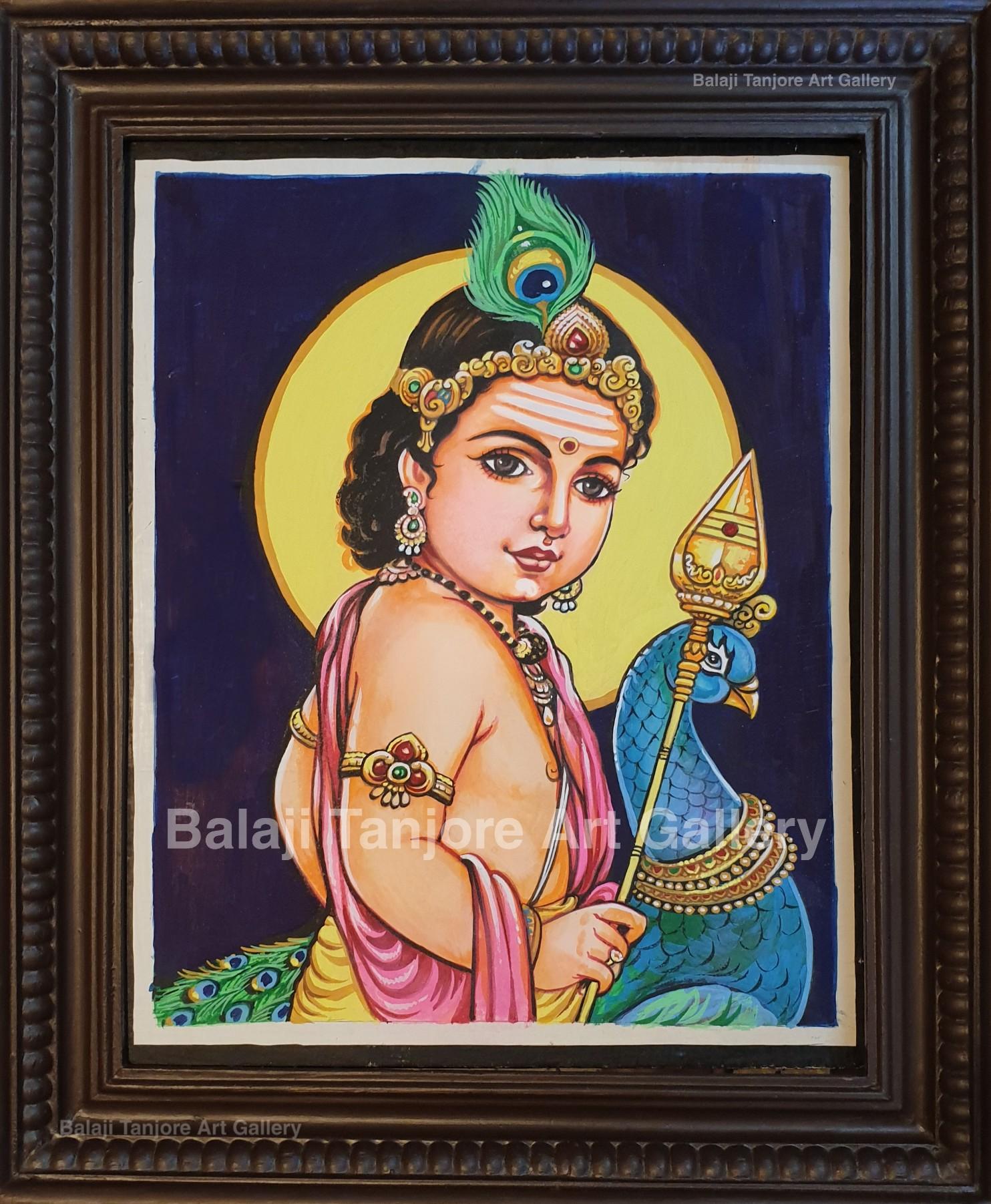 murugan hand drawn painting