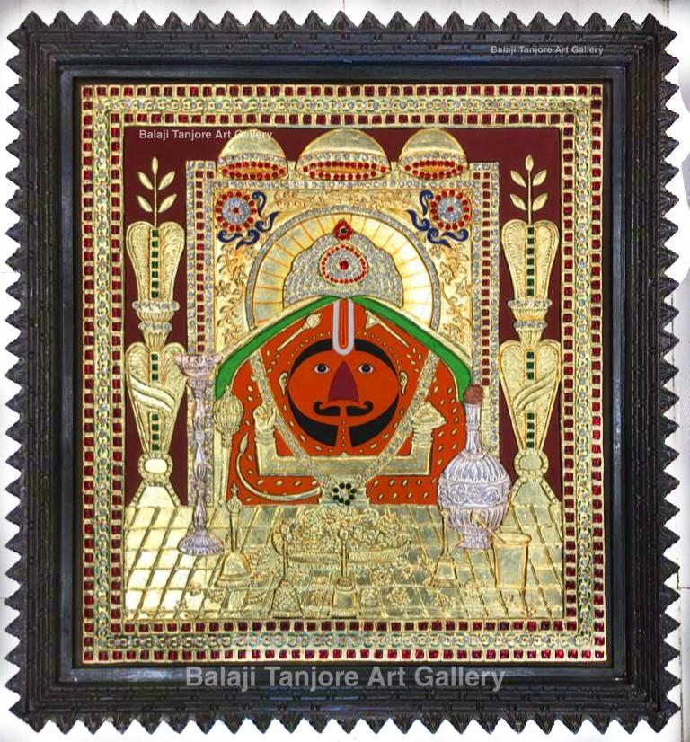 north indian flute radha krishna tanjore painting