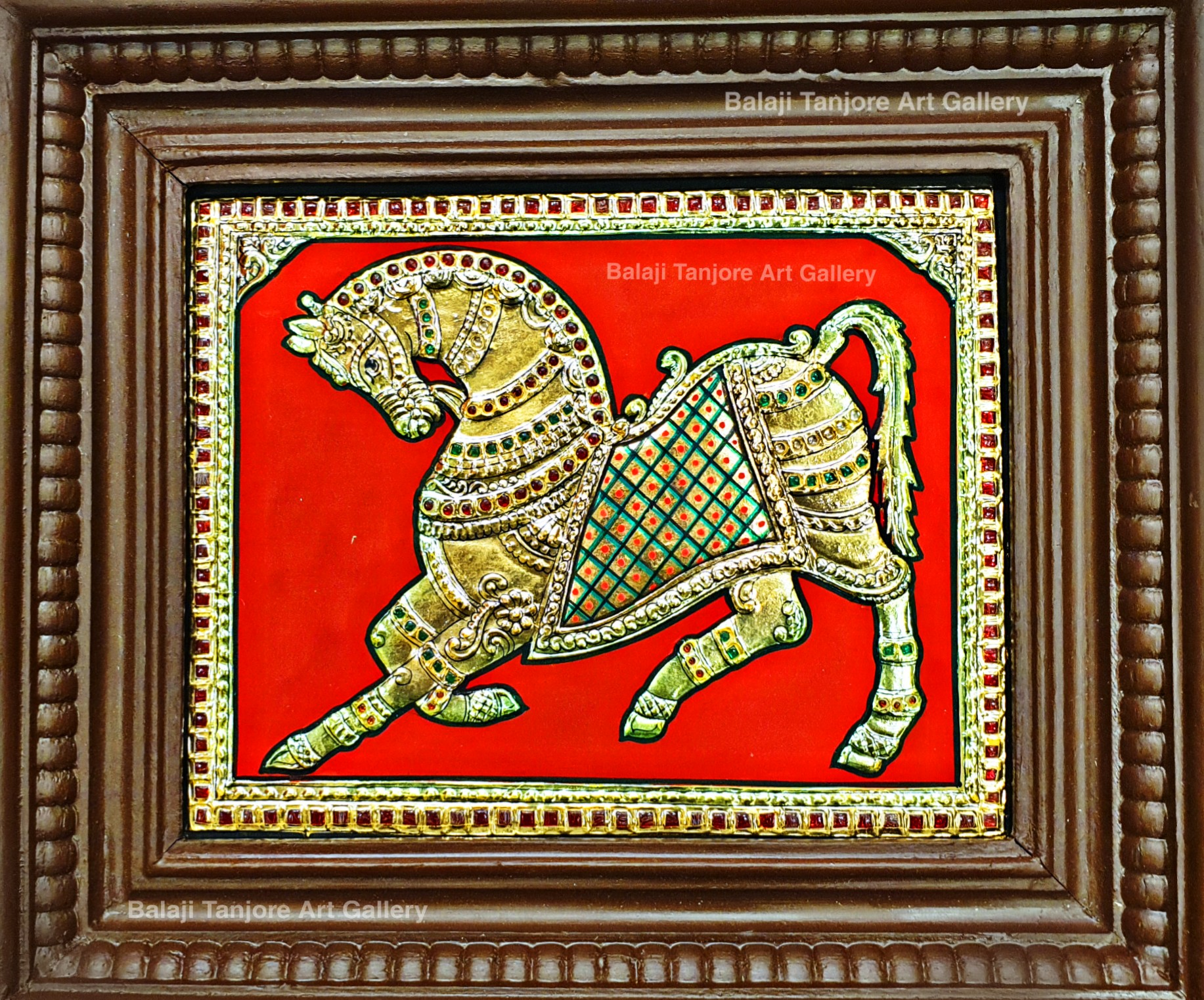 vaasthu horse gold tanjore painting