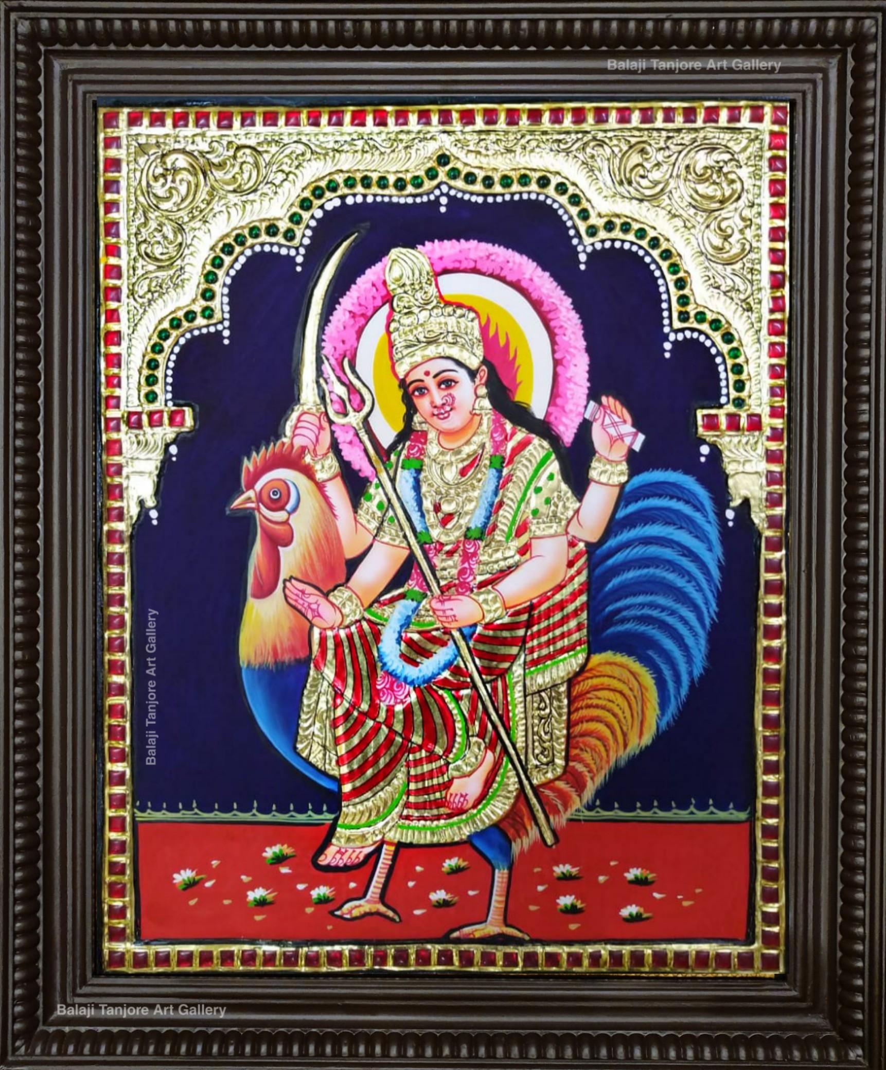 bahuchara mata tanjore painting