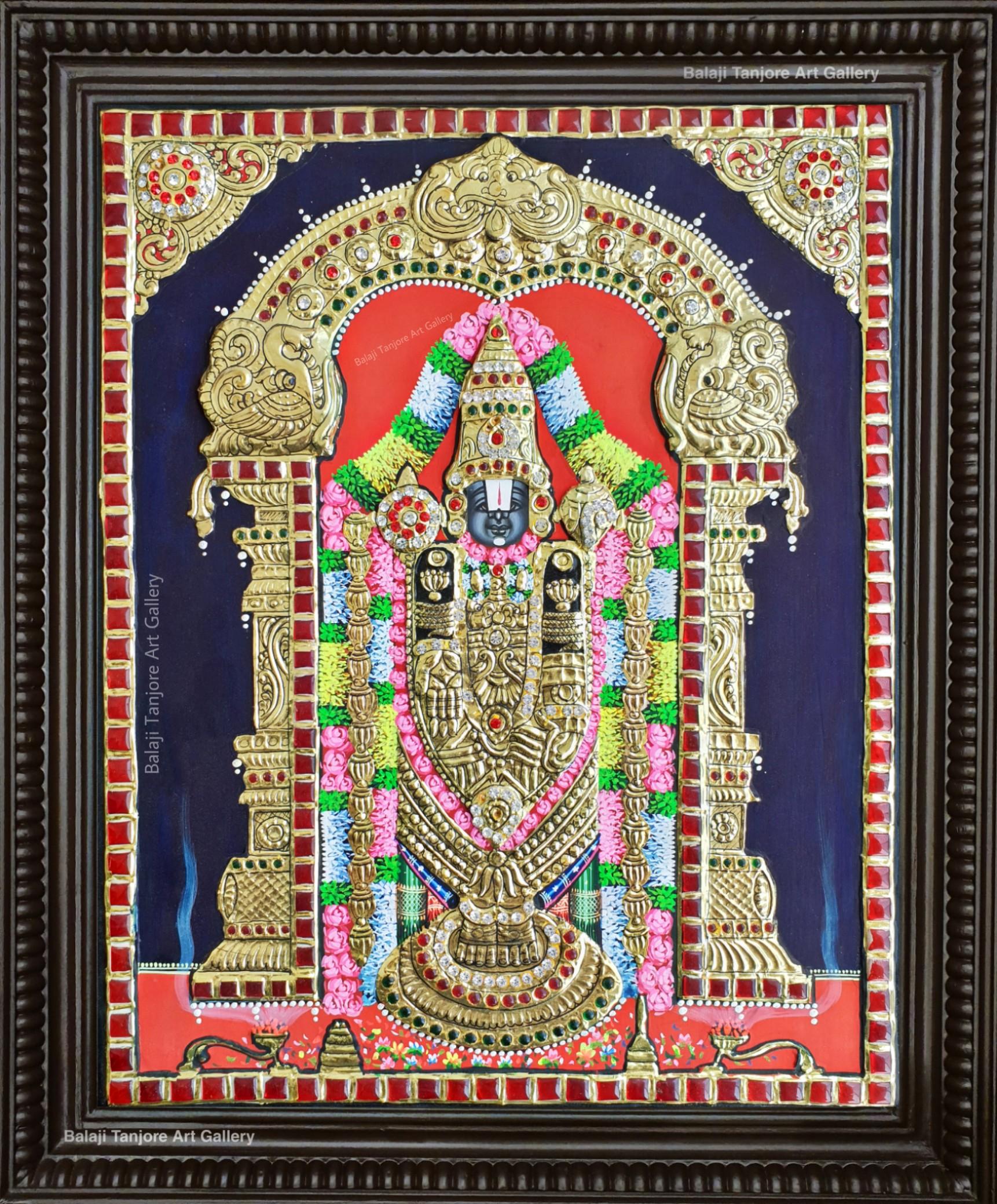Balaji semi embossing Tanjore painting