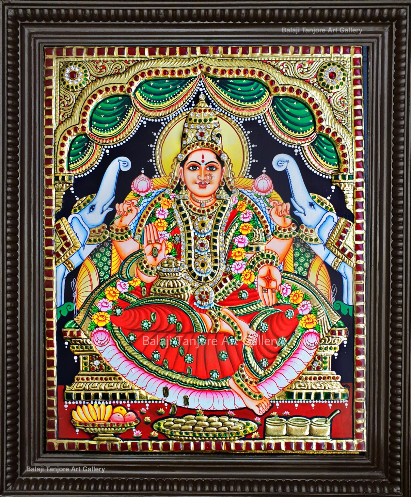 Lakshmi semi tanjore painting