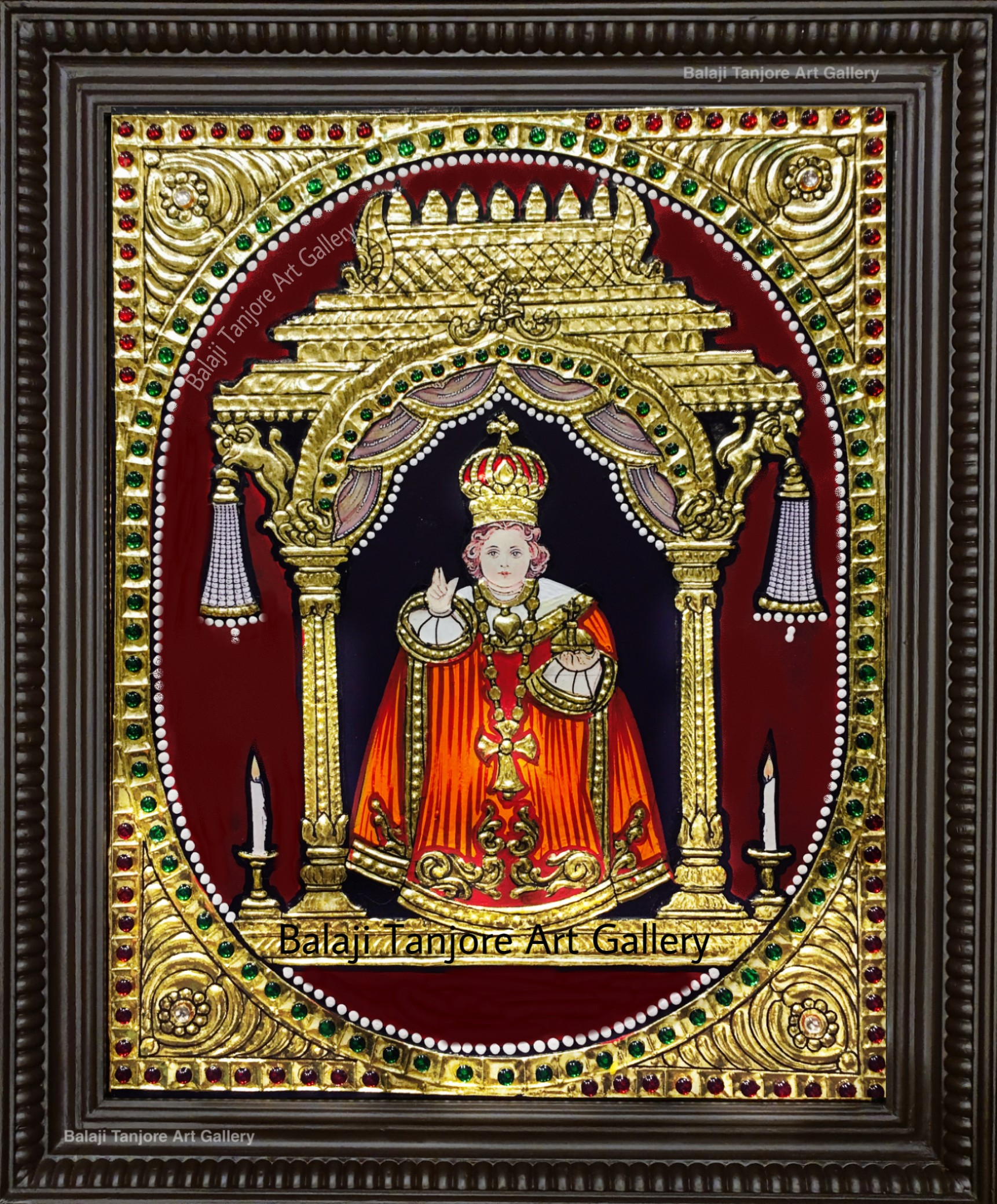 Baby jesus christ tanjore painting