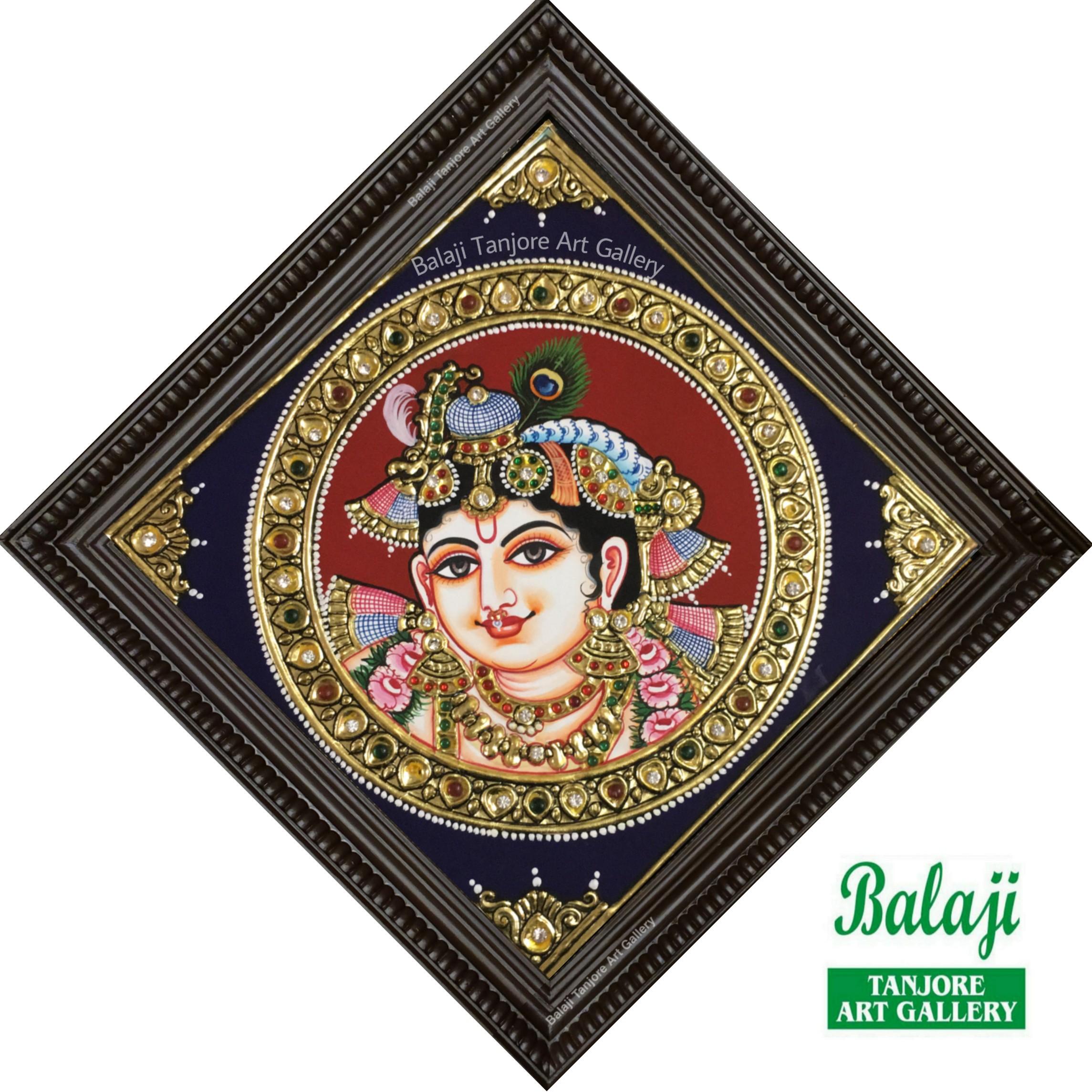 shree krishna tanjore painting