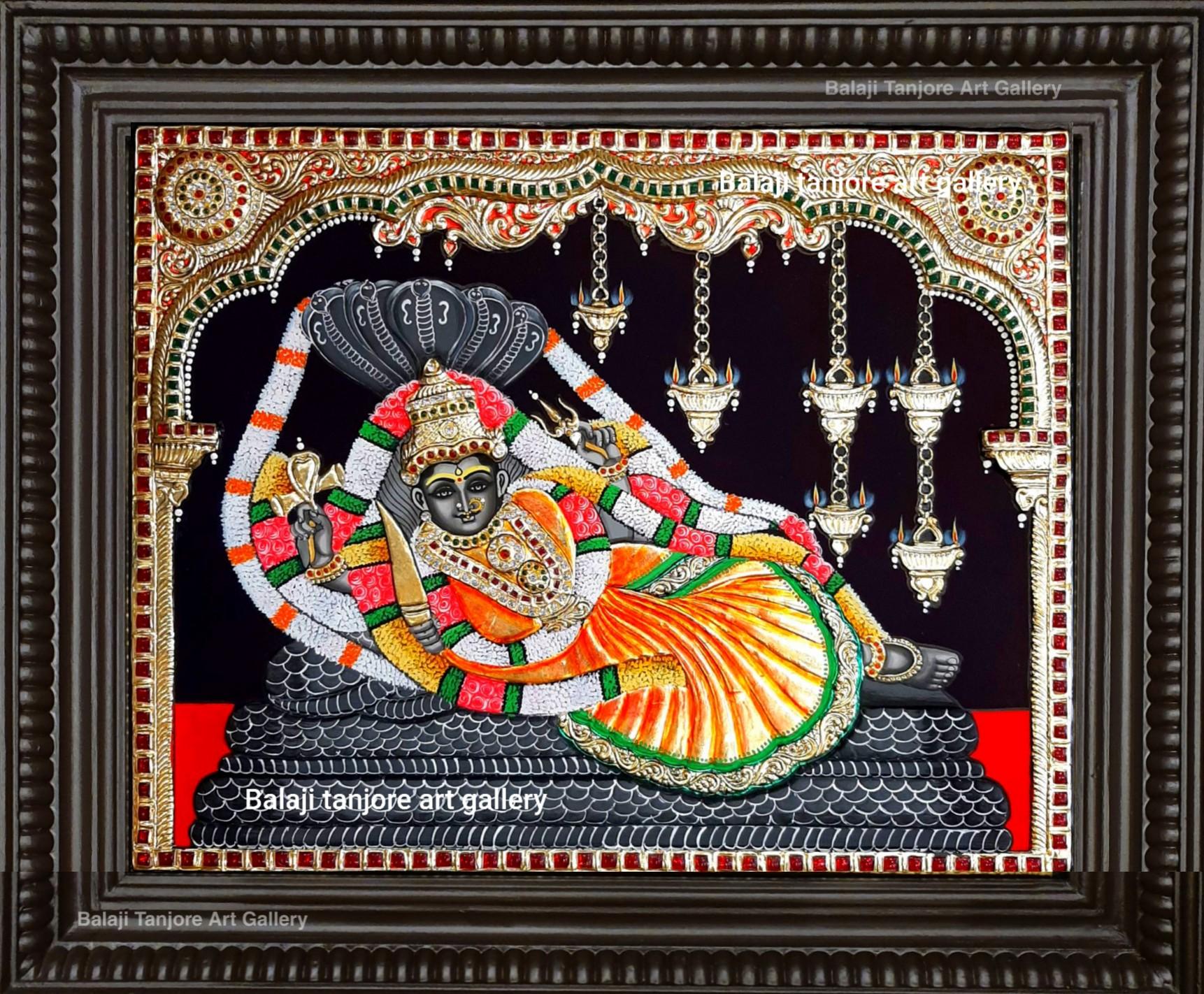 pallikonda amman tanjore painting