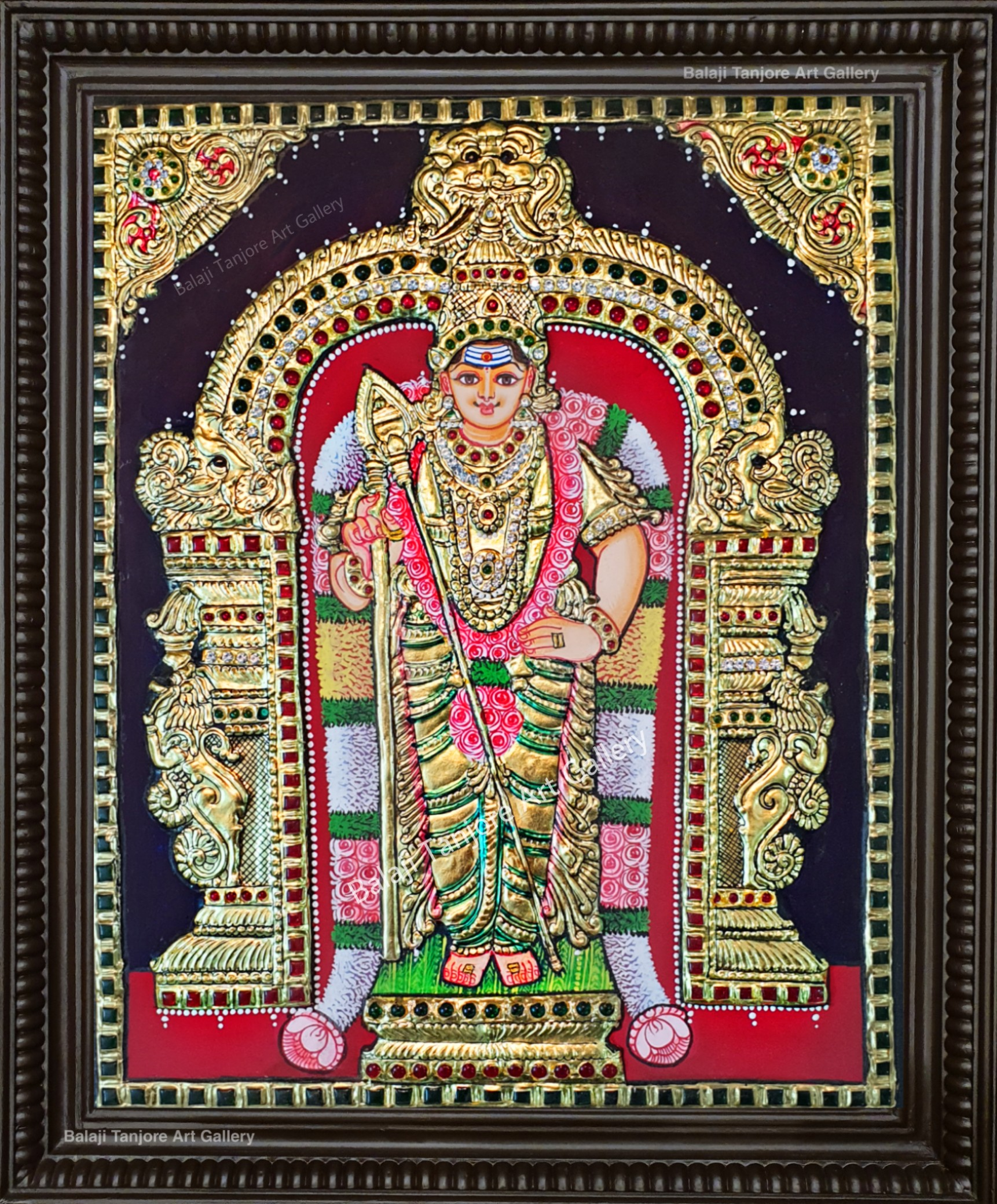 thiruchendur murugan semi embossing painting