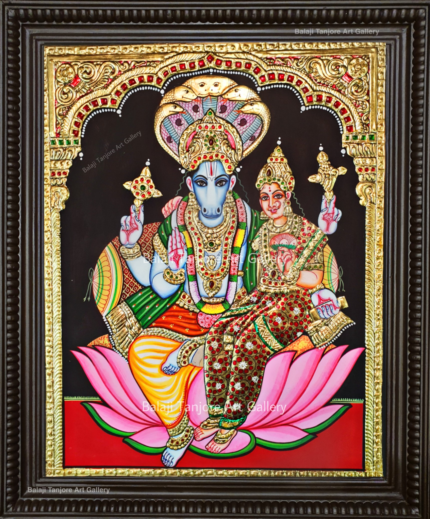 lakshmi hayagreeva tanjore painting