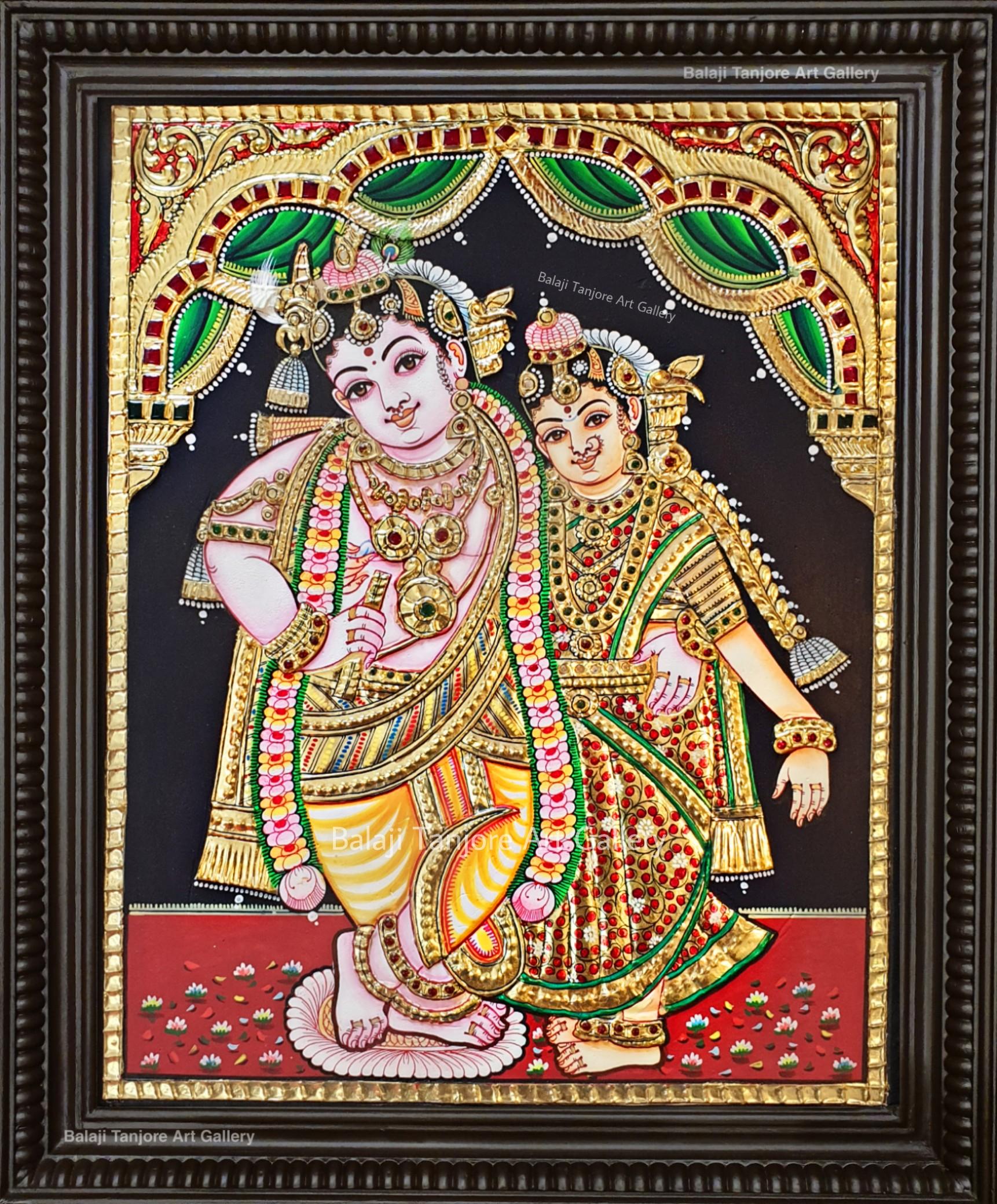 RadhaKrishna Tanjore painting