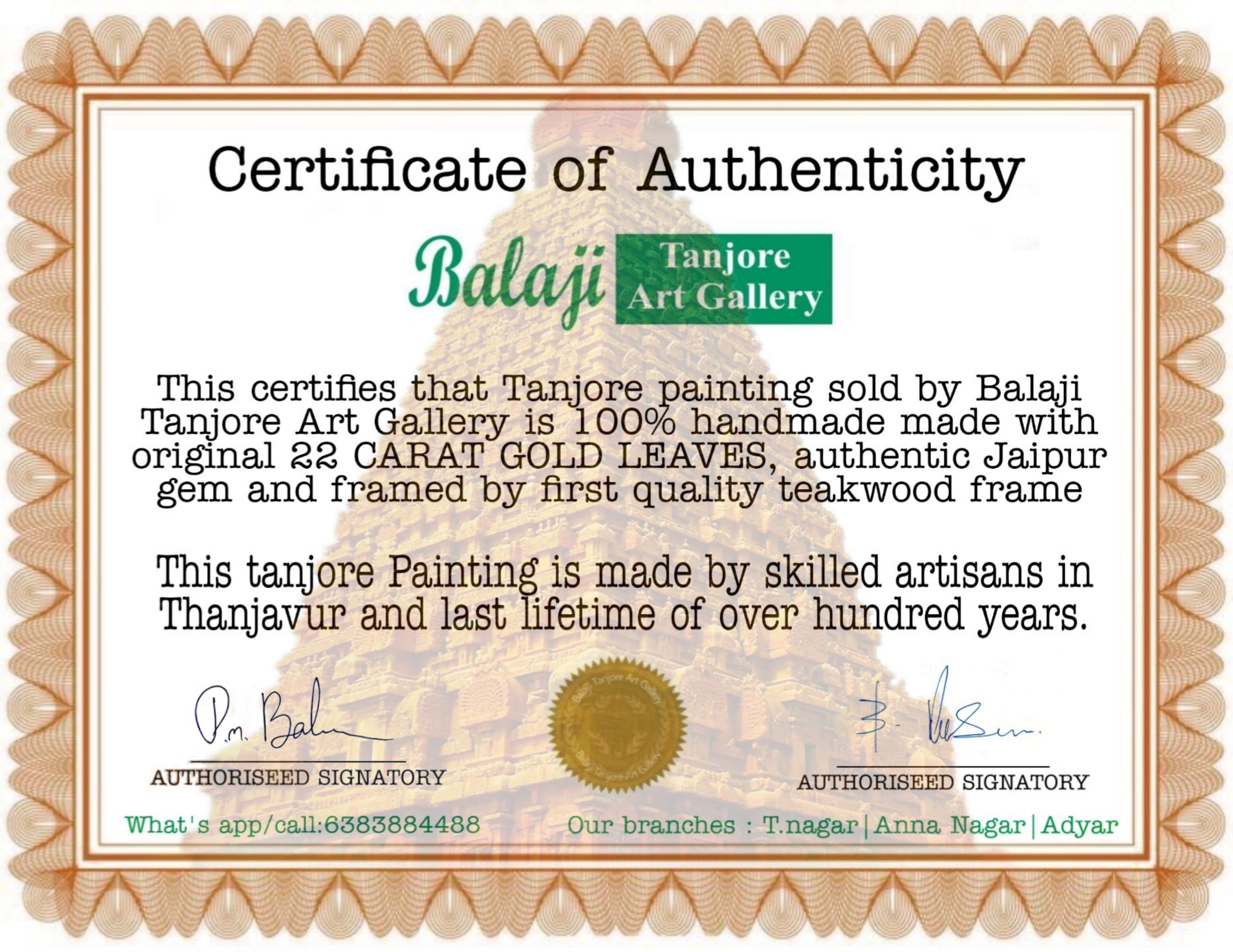 Thayar balaji 3D full embossing tanjore painting