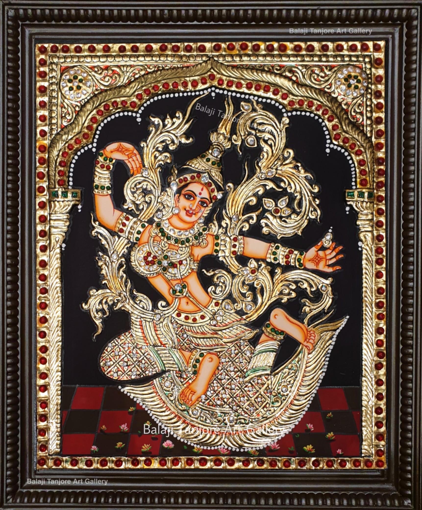 indonesian sita(rathi) semi embossing tanjore painting