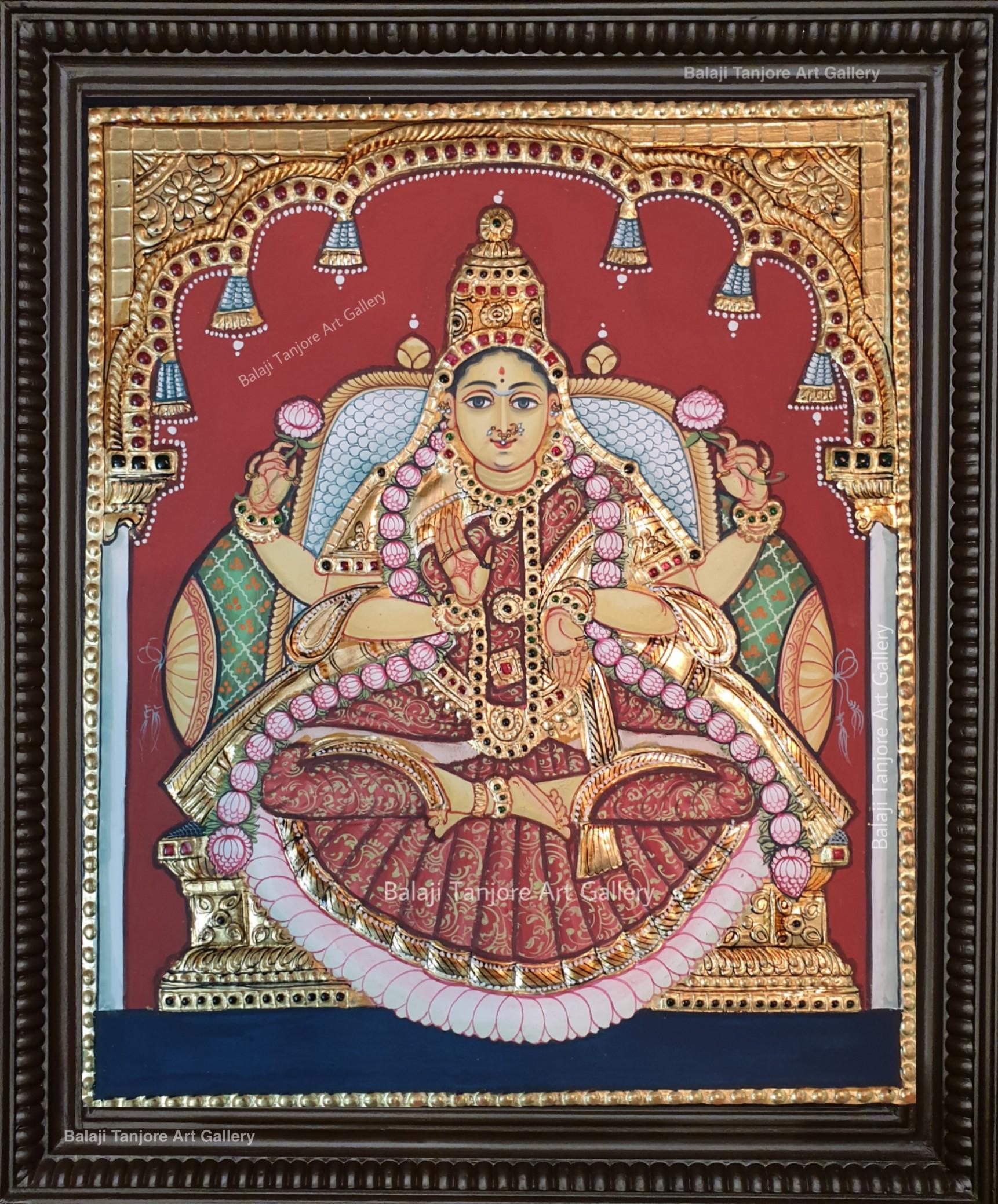 lakshmi antique style tanjore painting