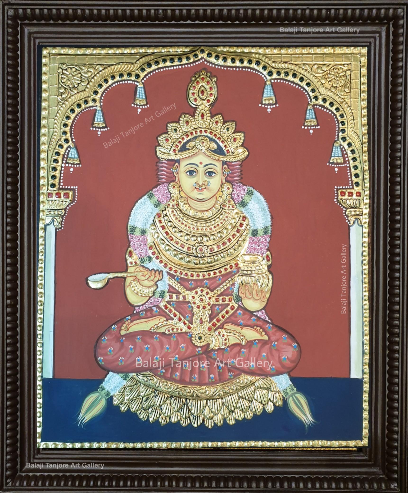 annapurni antique style tanjore painting