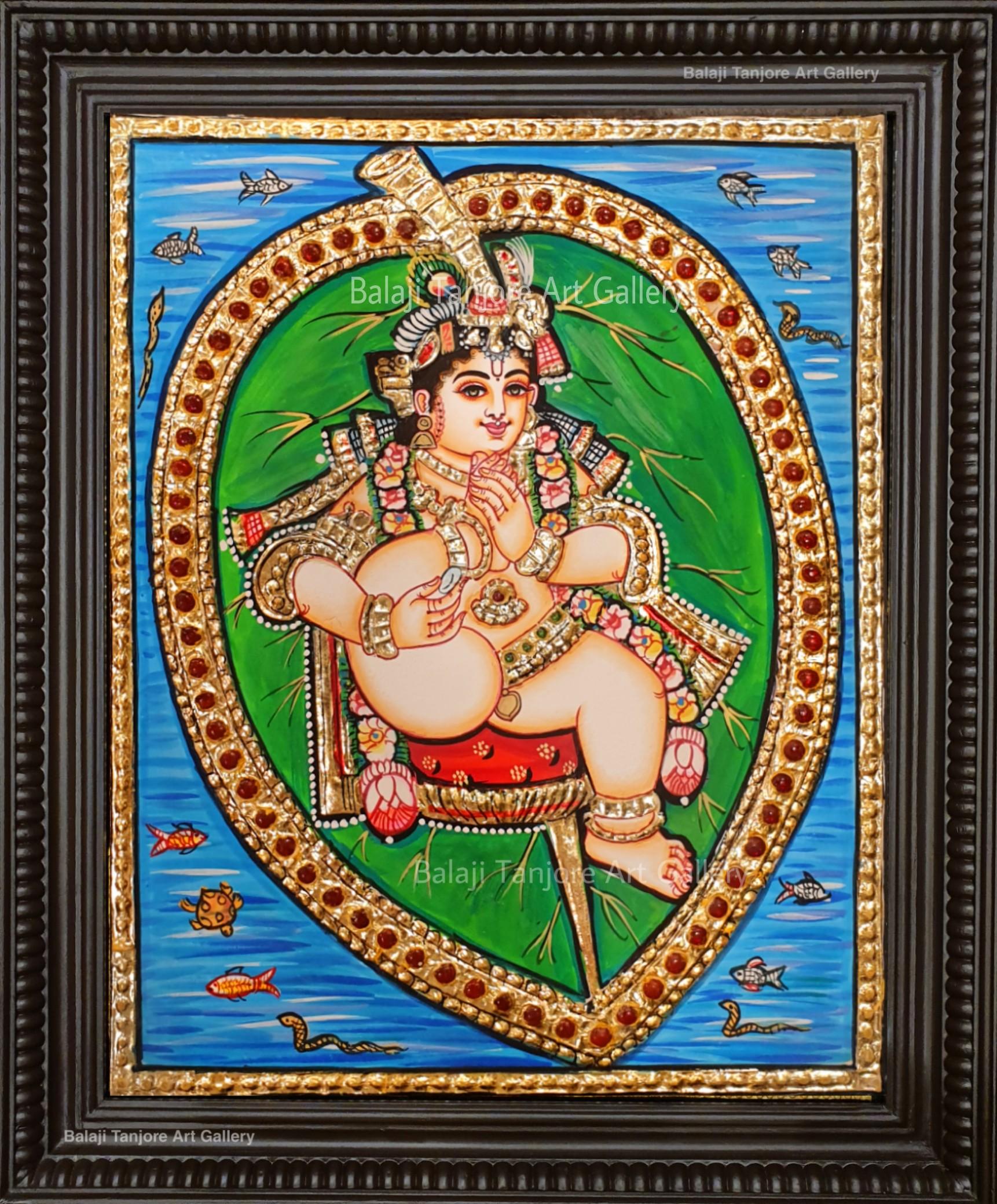 Shri  krishna tanjore painting
