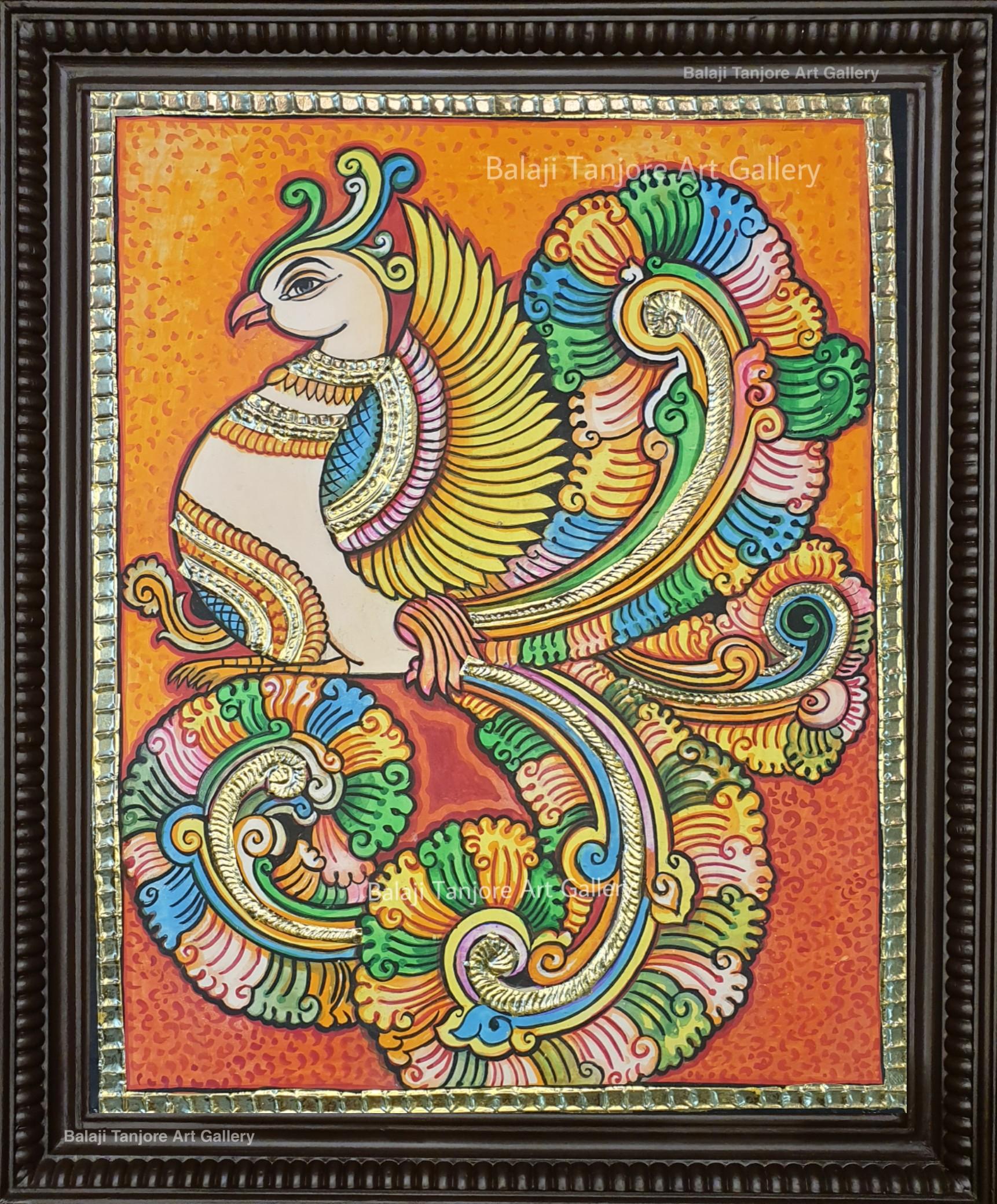 ravi varma hand drawn painting