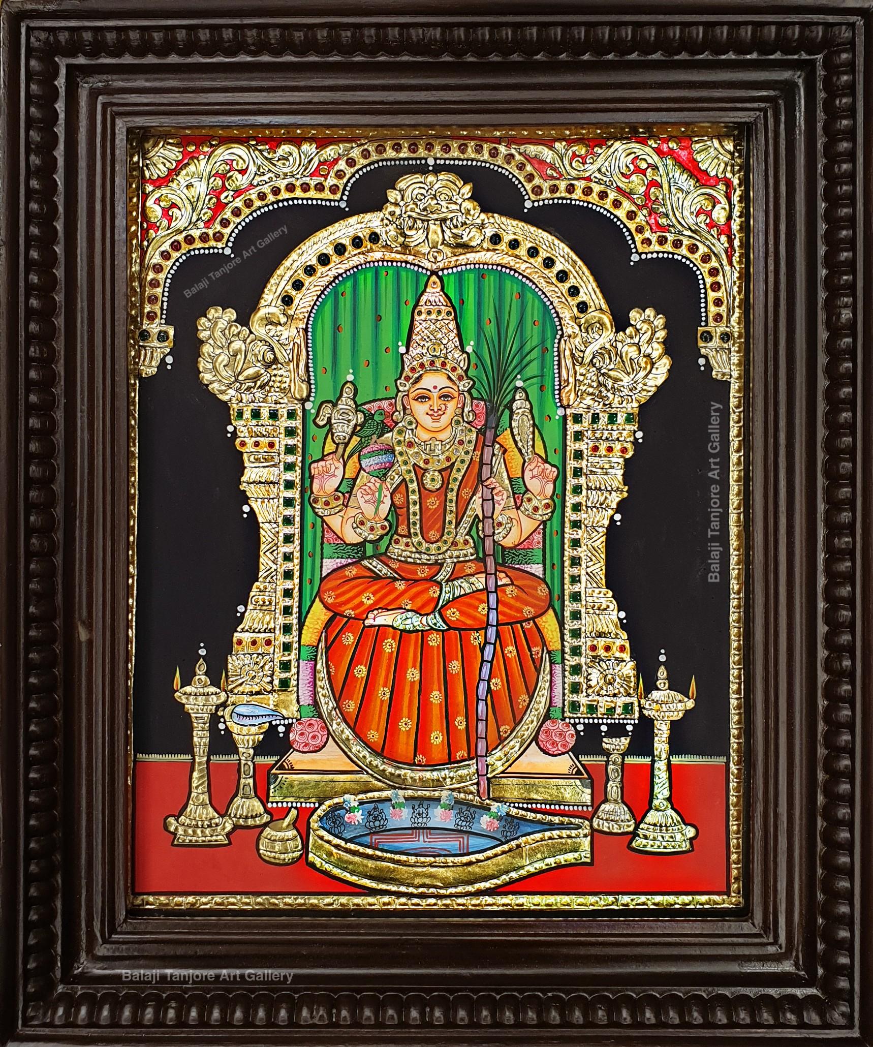 kamakshi tanjore painting